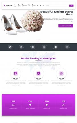 Fresh Wedding Website Template