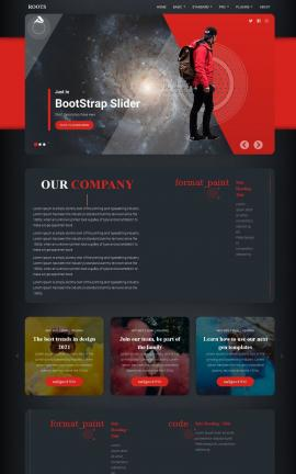 Roots Astronomy Website Template