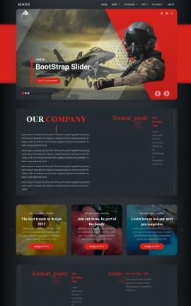 Roots Aviation Website Template