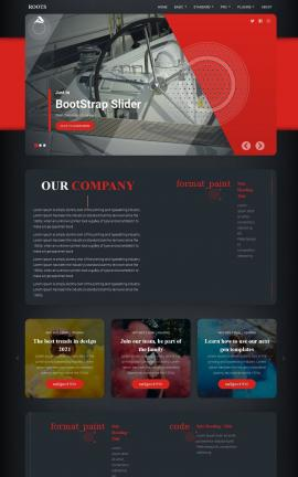Roots Boating Website Template