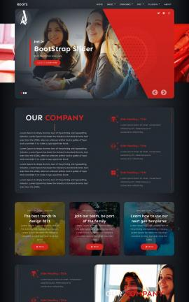 Roots Education Website Template