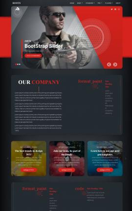 Roots Fishing Website Template