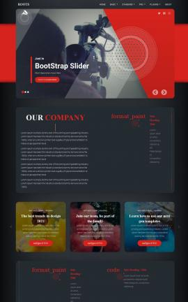 Roots Videography Website Template