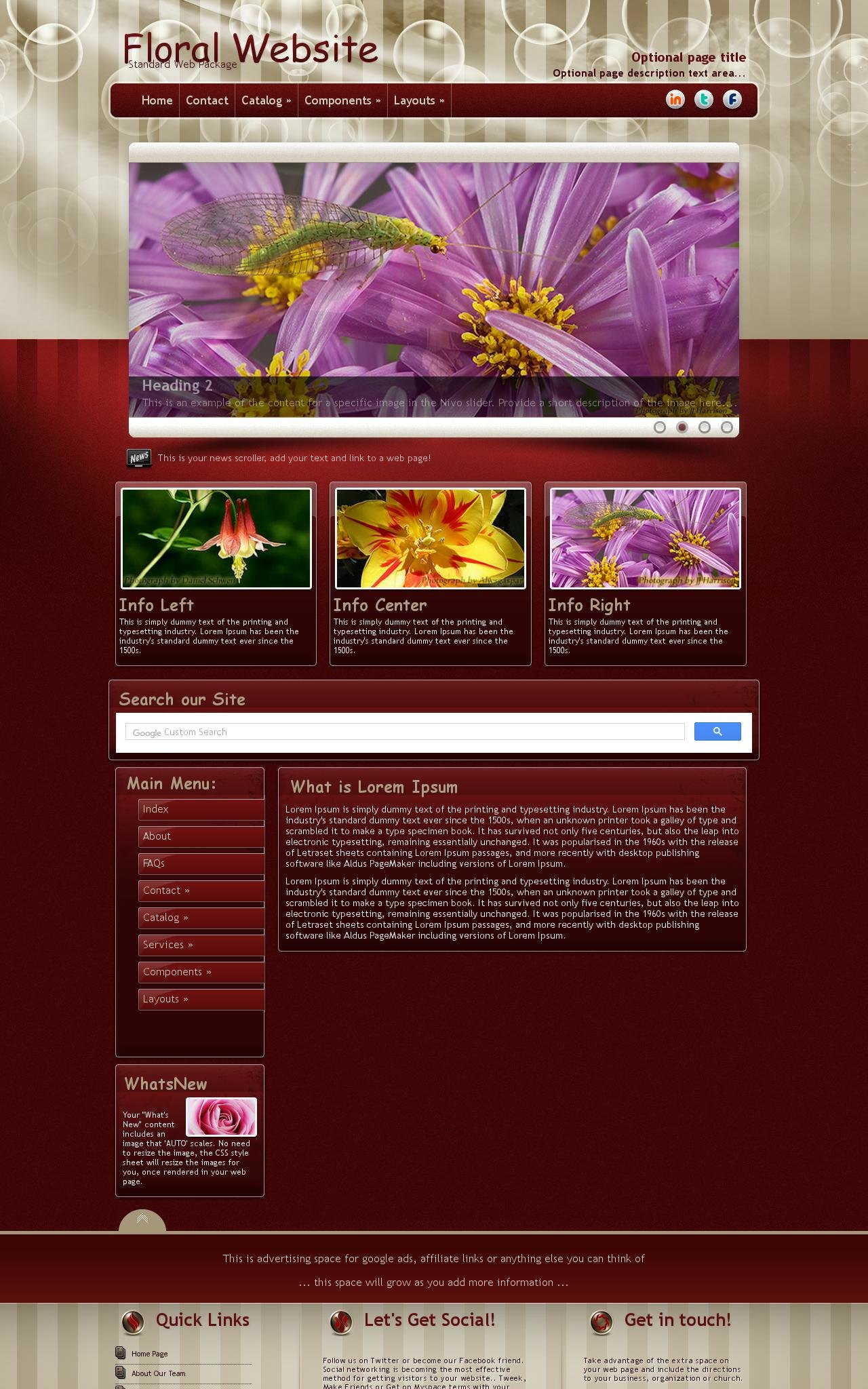 Desktop: Floral Web Template