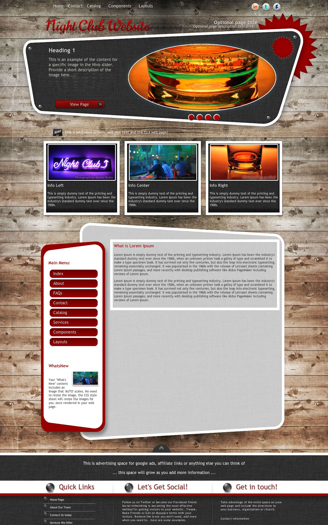 Night-club Web Templates