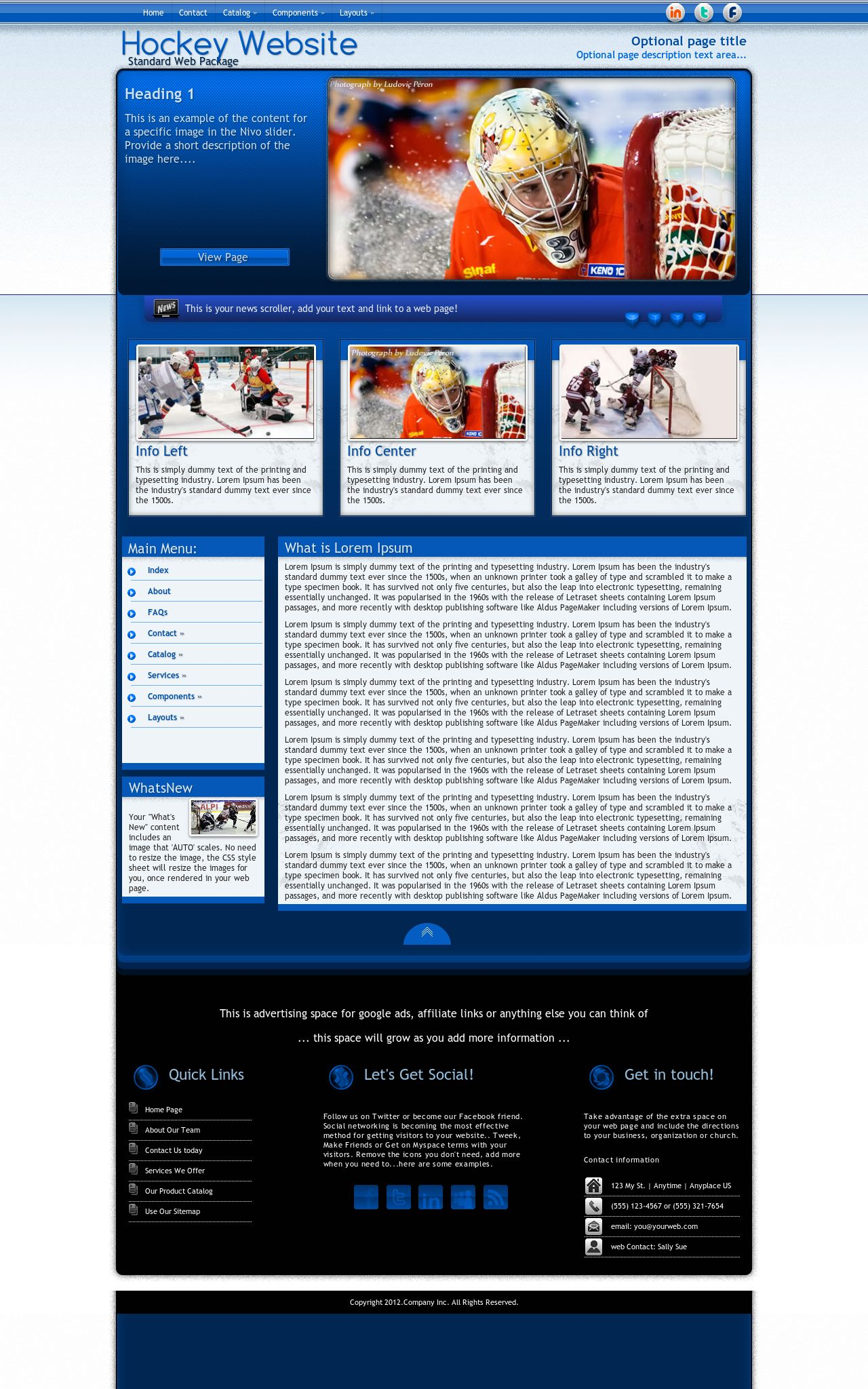 Hockey Web Templates