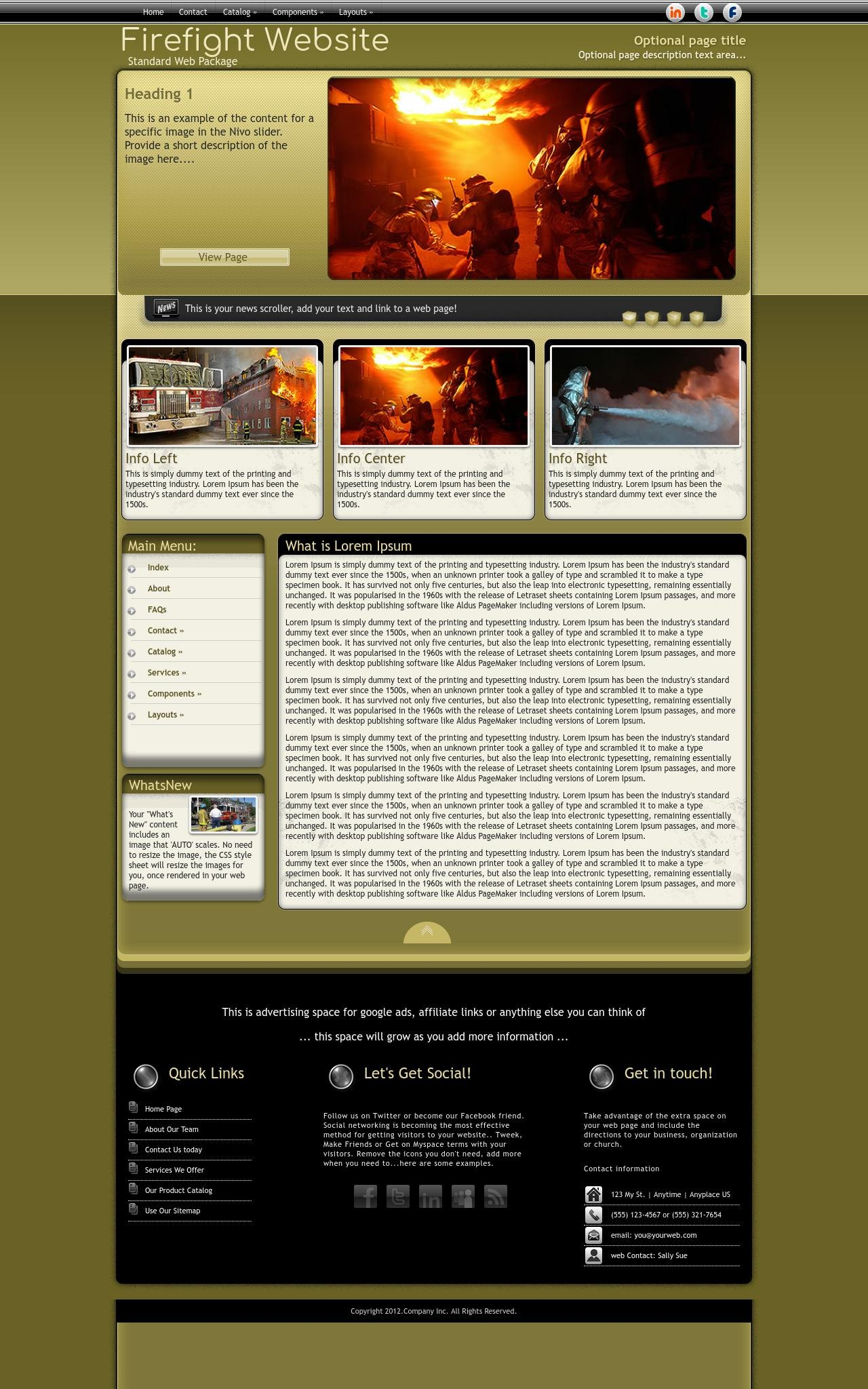 Tablet: Firefight Web Template