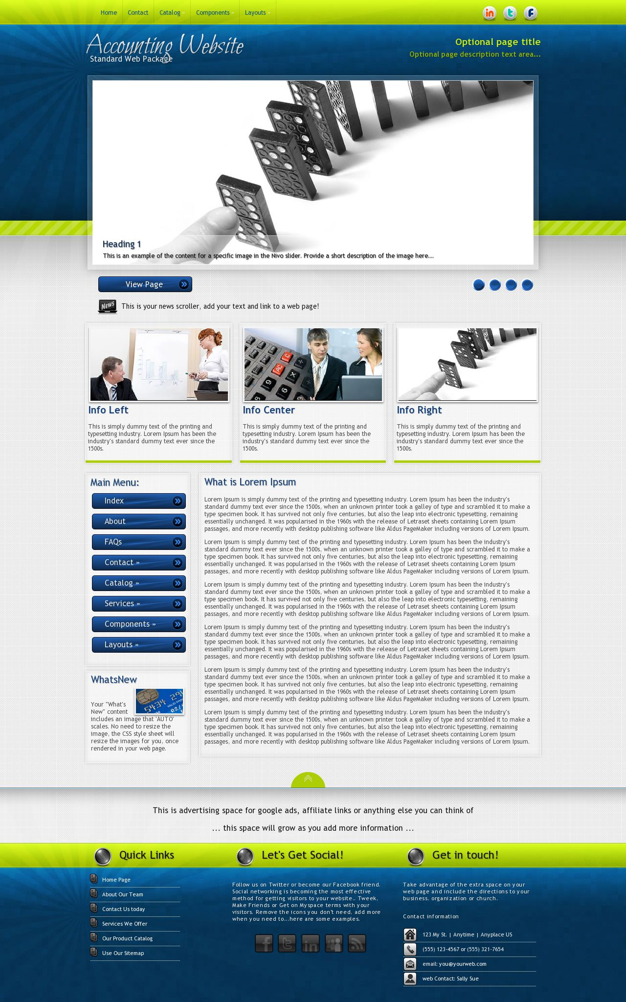 infusion accounting blue green accounting web template