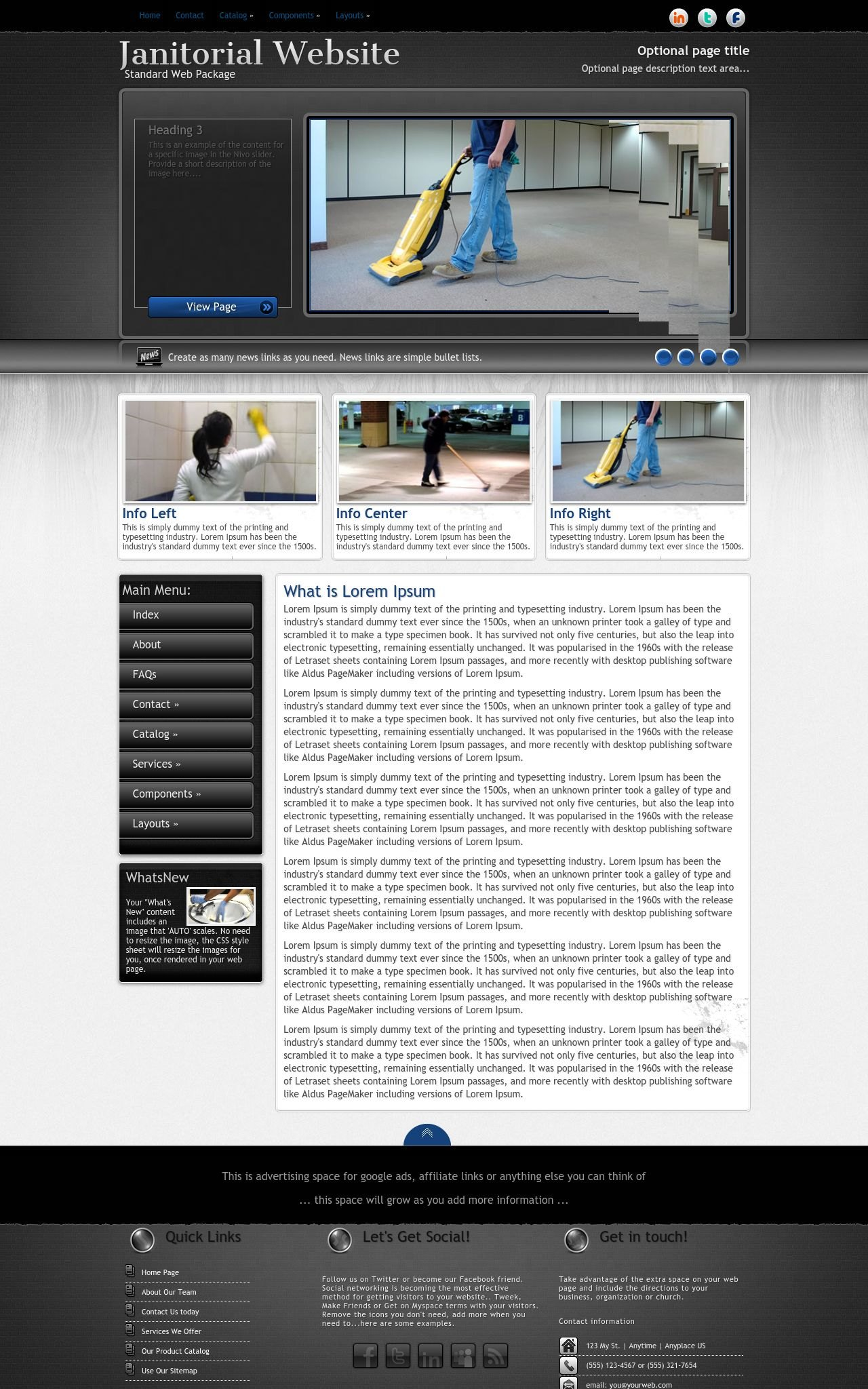 Desktop: Janitorial Web Template