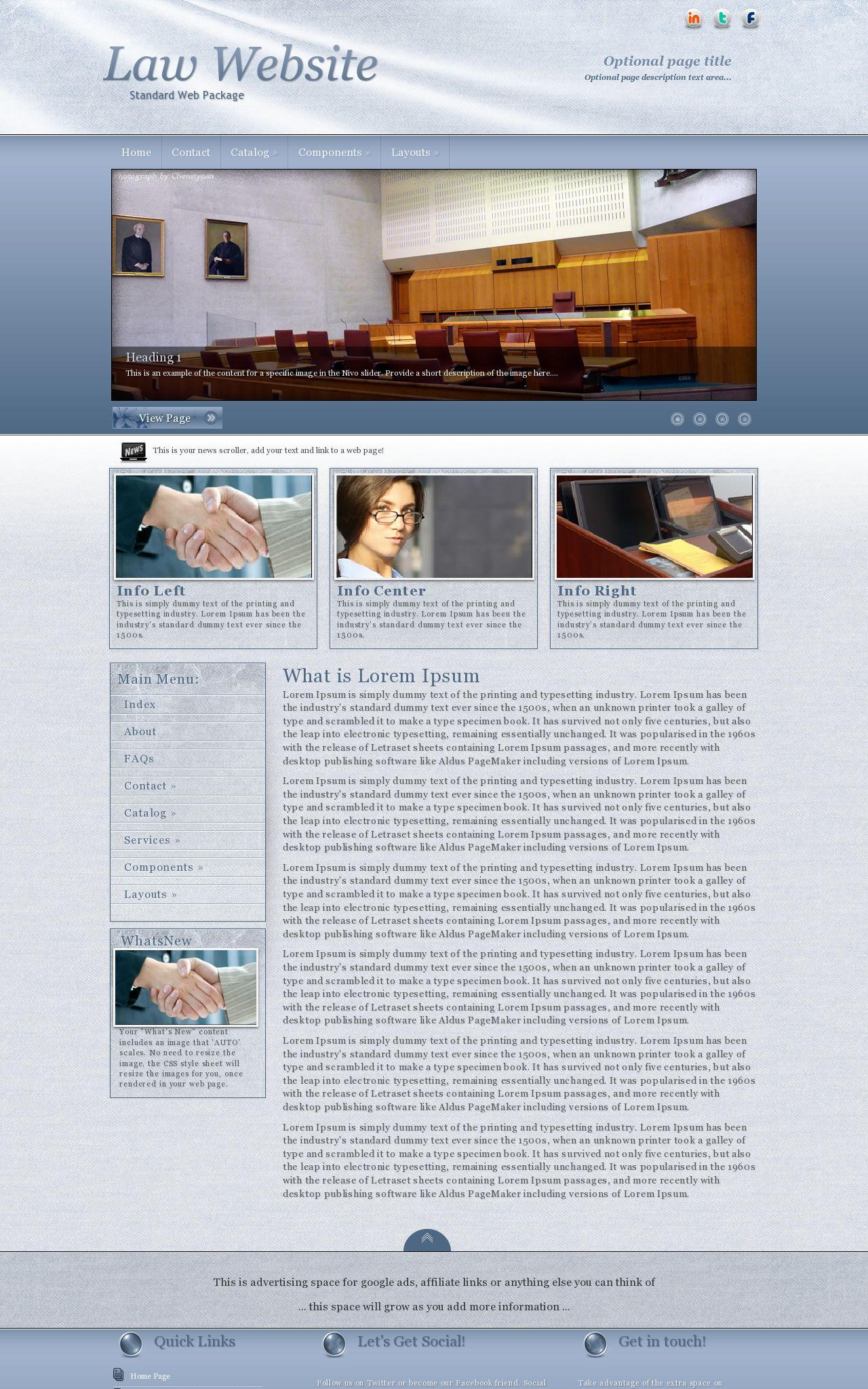 Accent Law Blue/White | Law Web Template