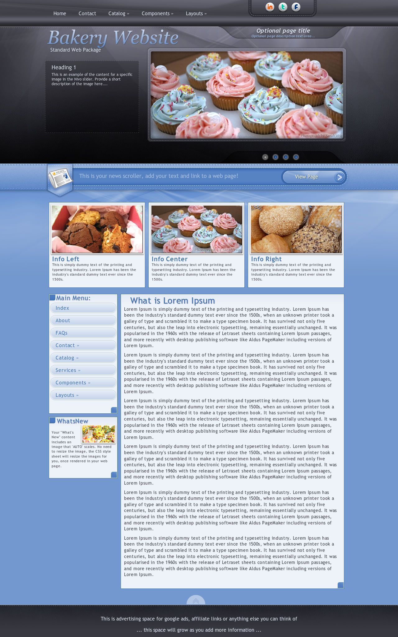 Tablet: Bakery Wordpress Theme