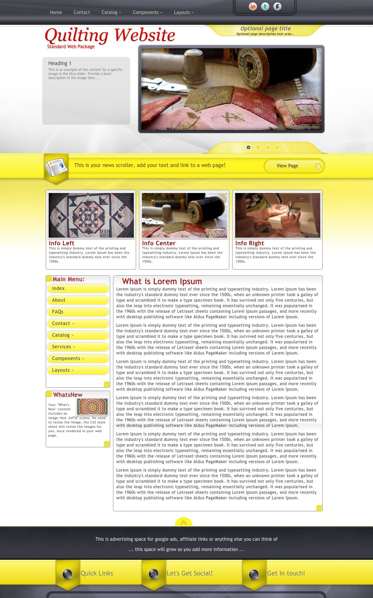 Quilting Web Templates