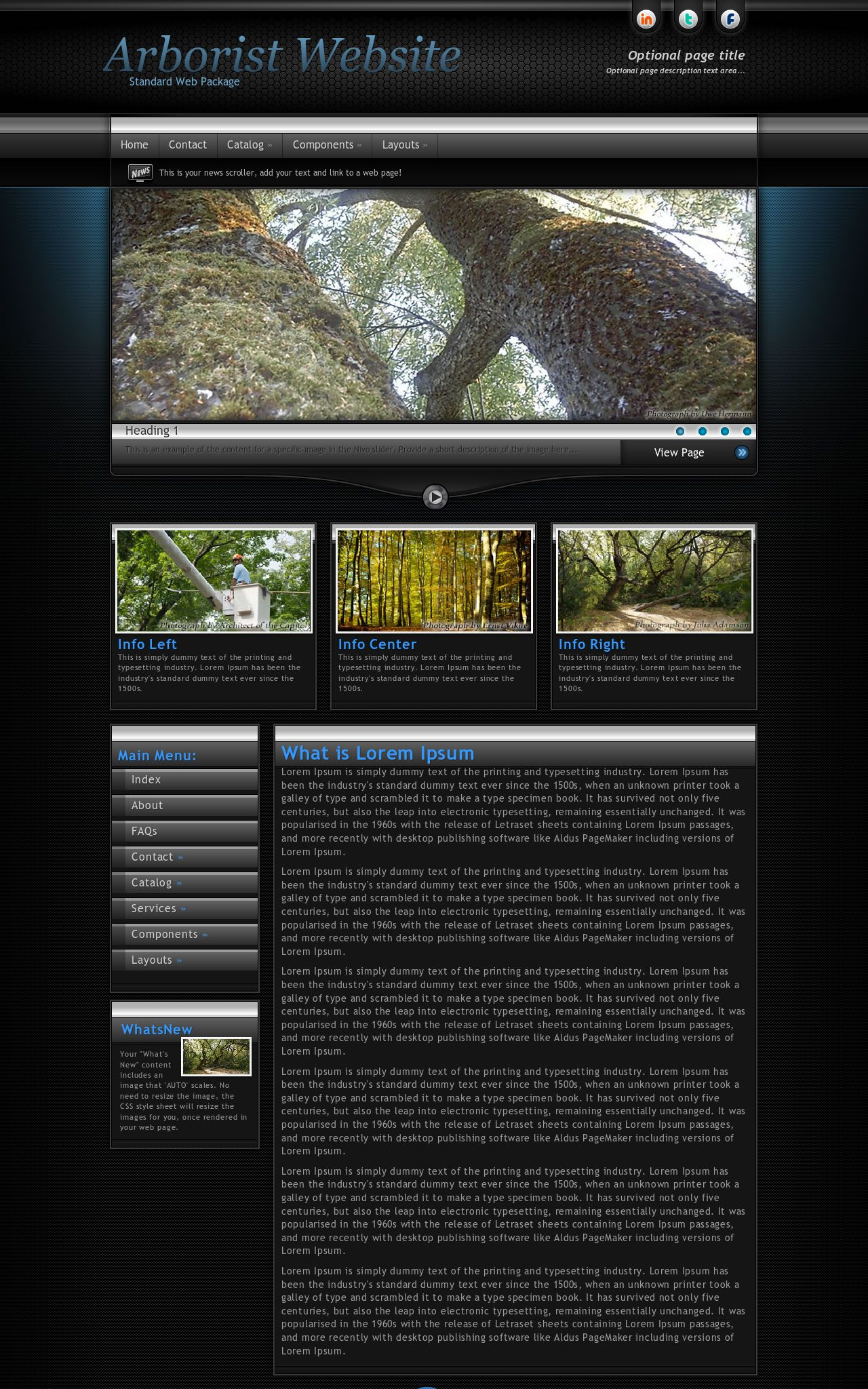 Element Arborist Black/Blue | Arborist Web Template