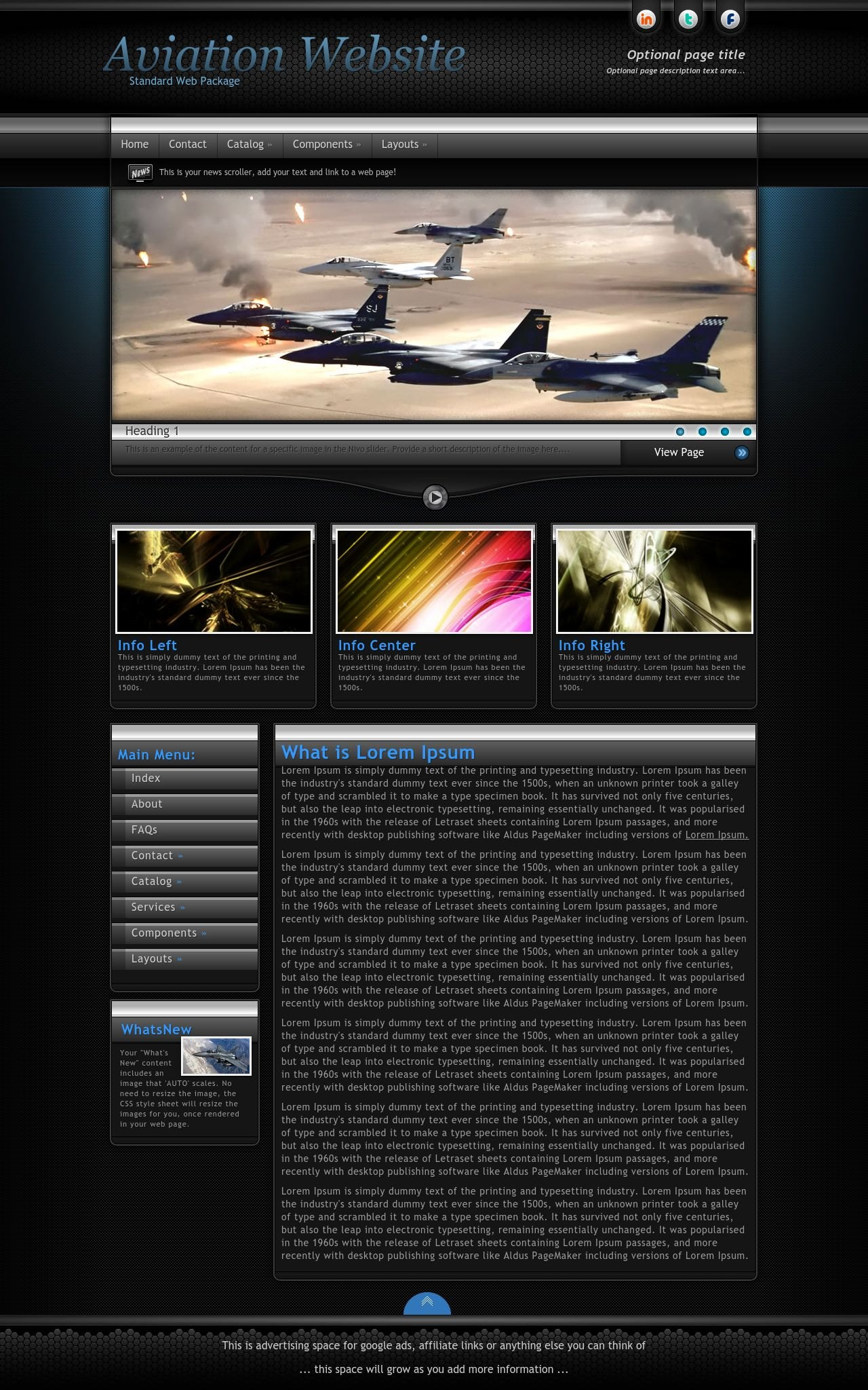 Aviation Web Templates