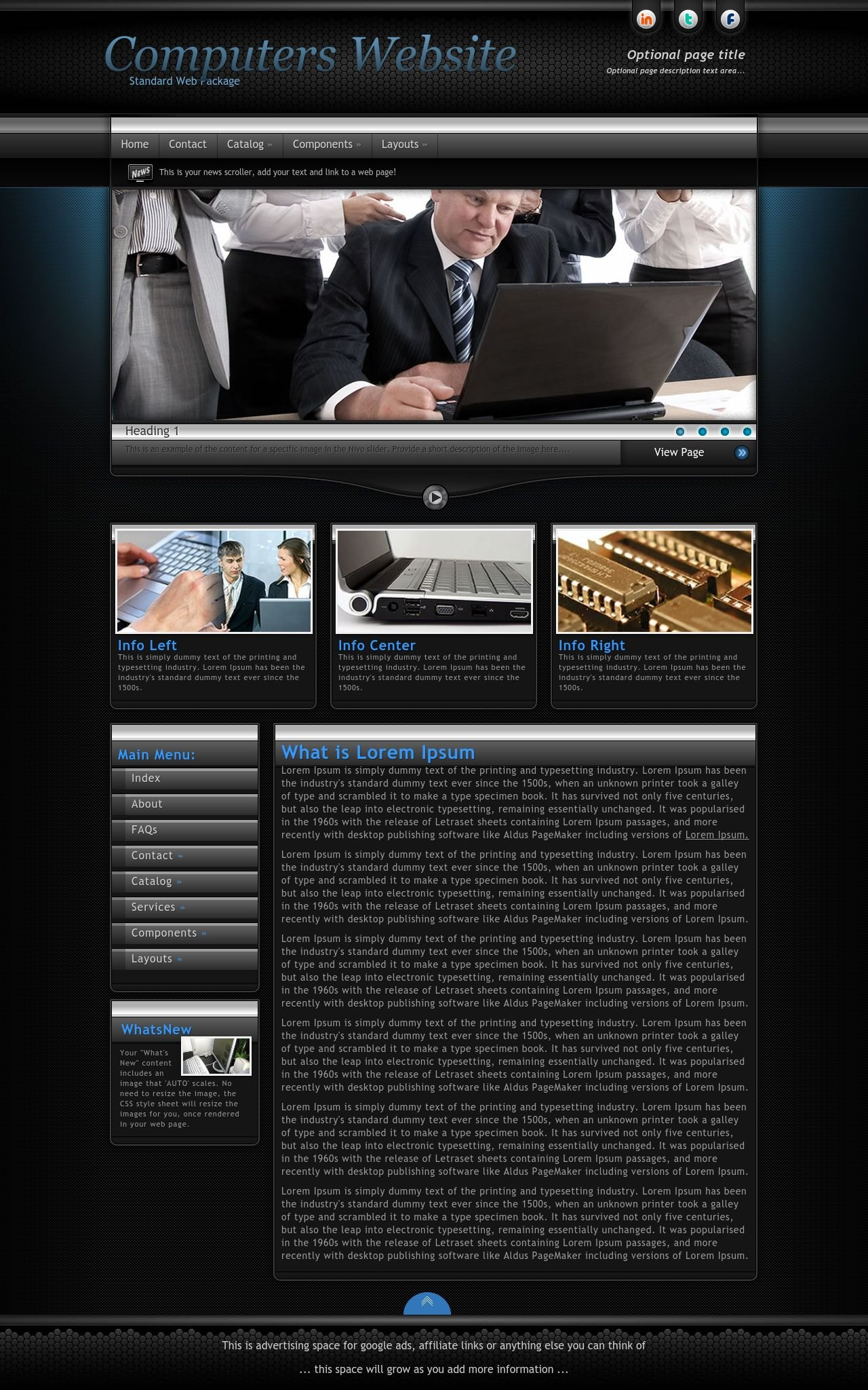 Tablet: Computers Wordpress Theme