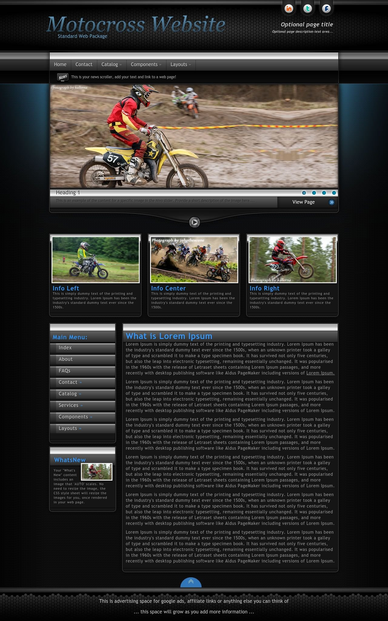 Motocross Wordpress Themes