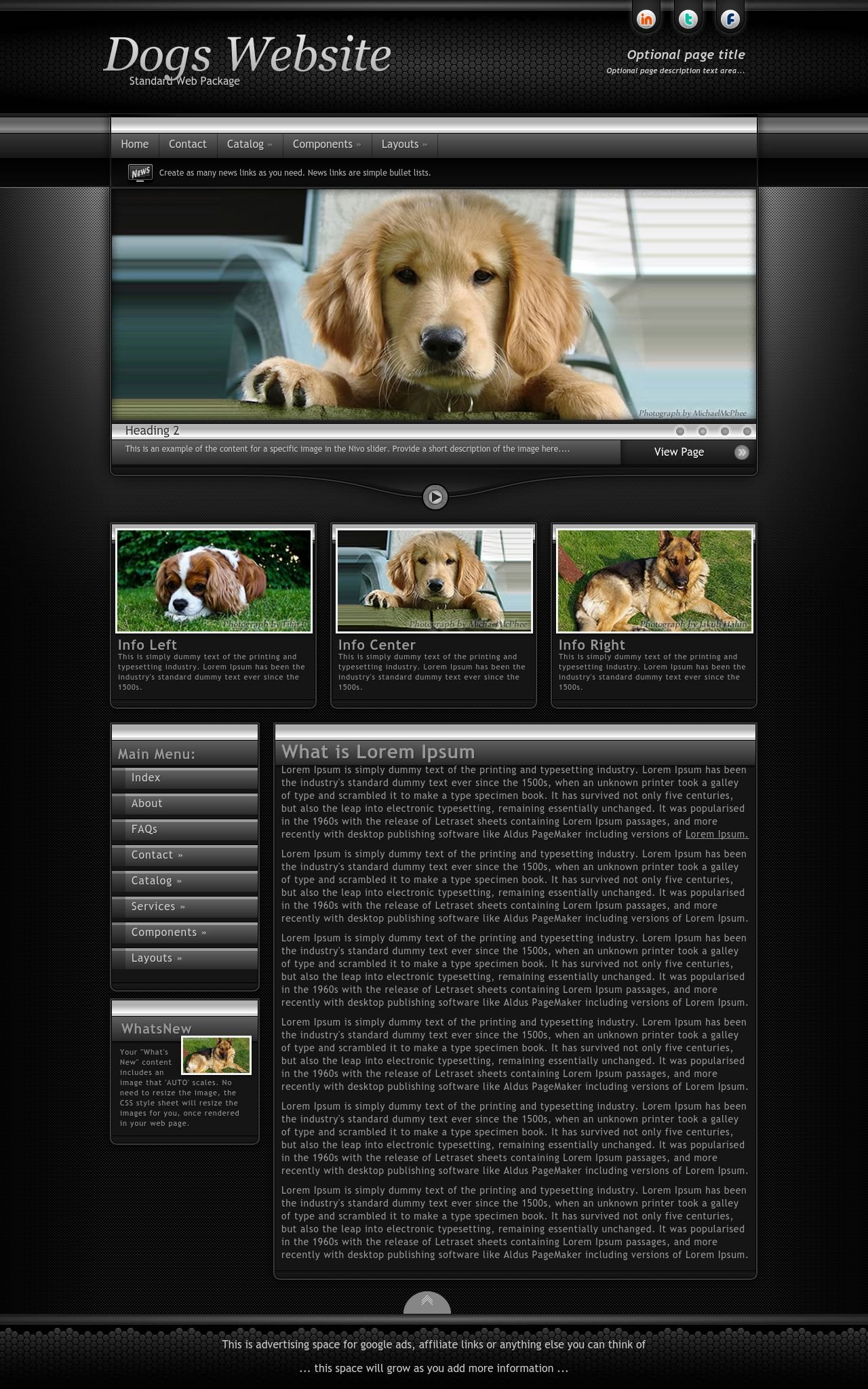 Dogs Web Templates