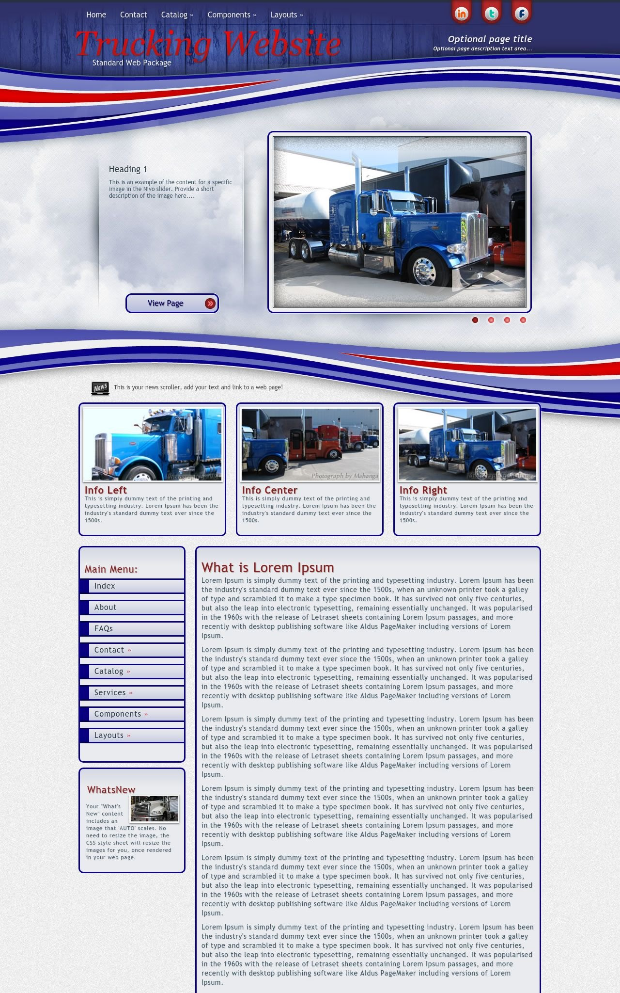 Trucking Web Templates