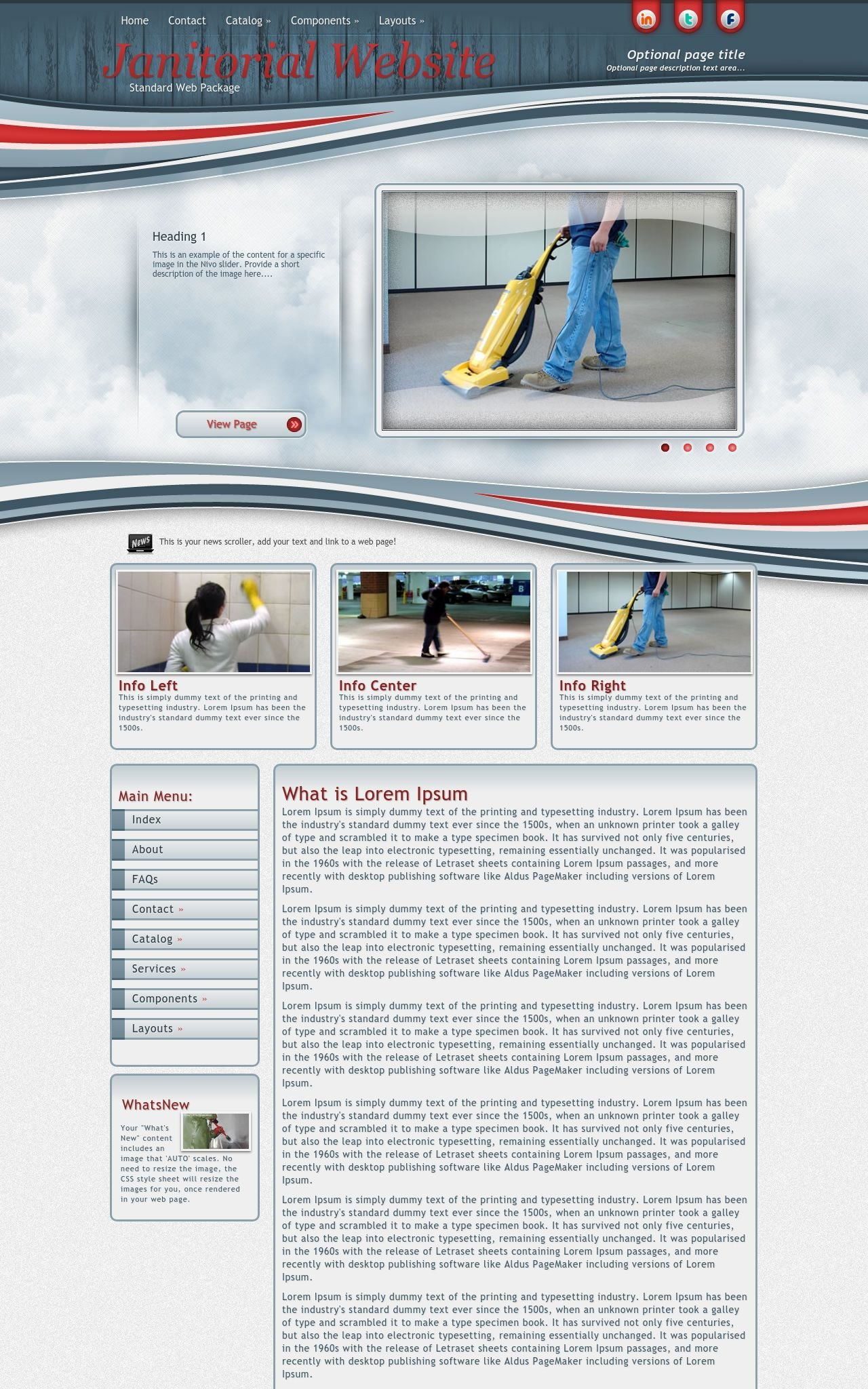 Janitorial Web Templates