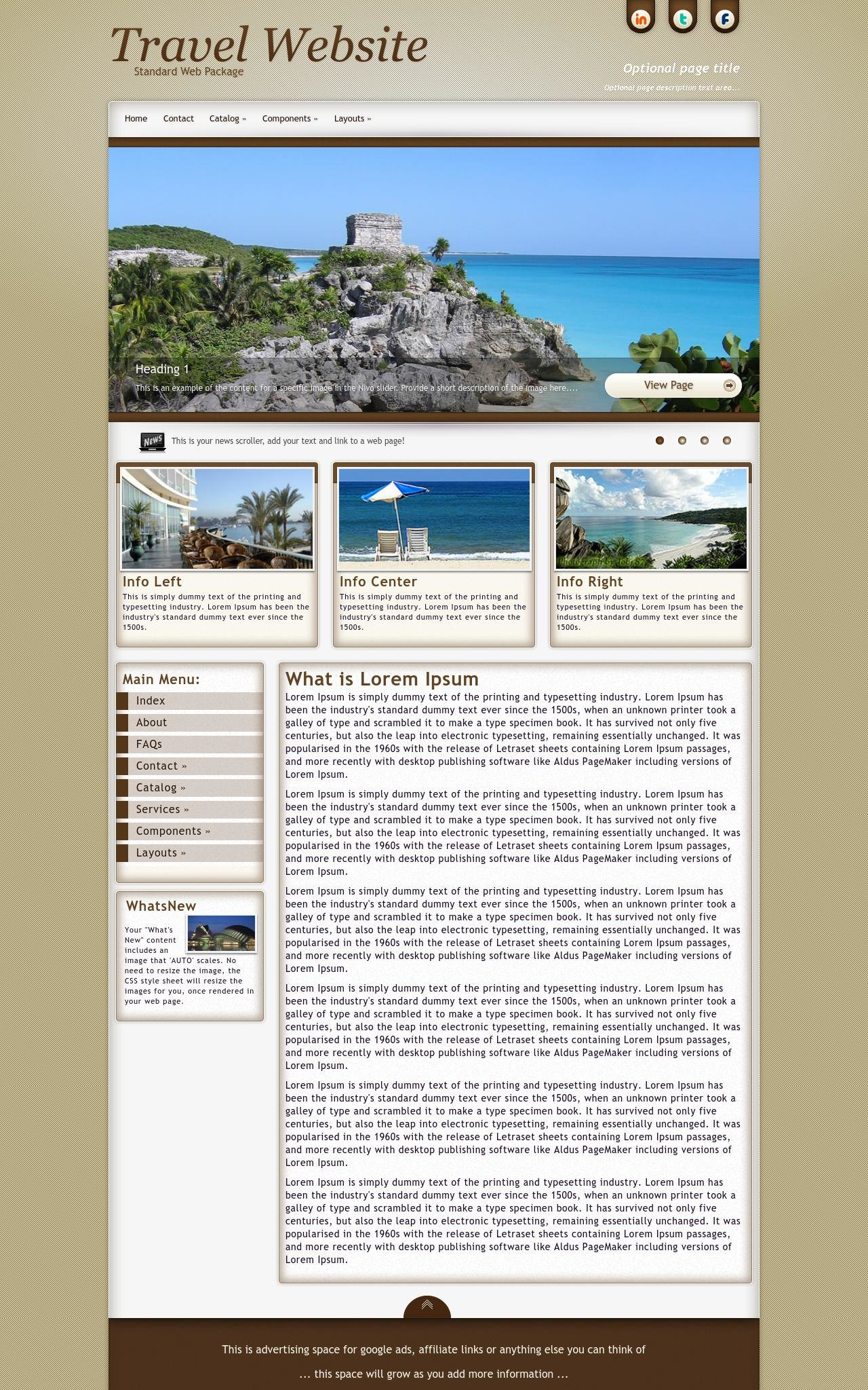Desktop: Travel Web Template