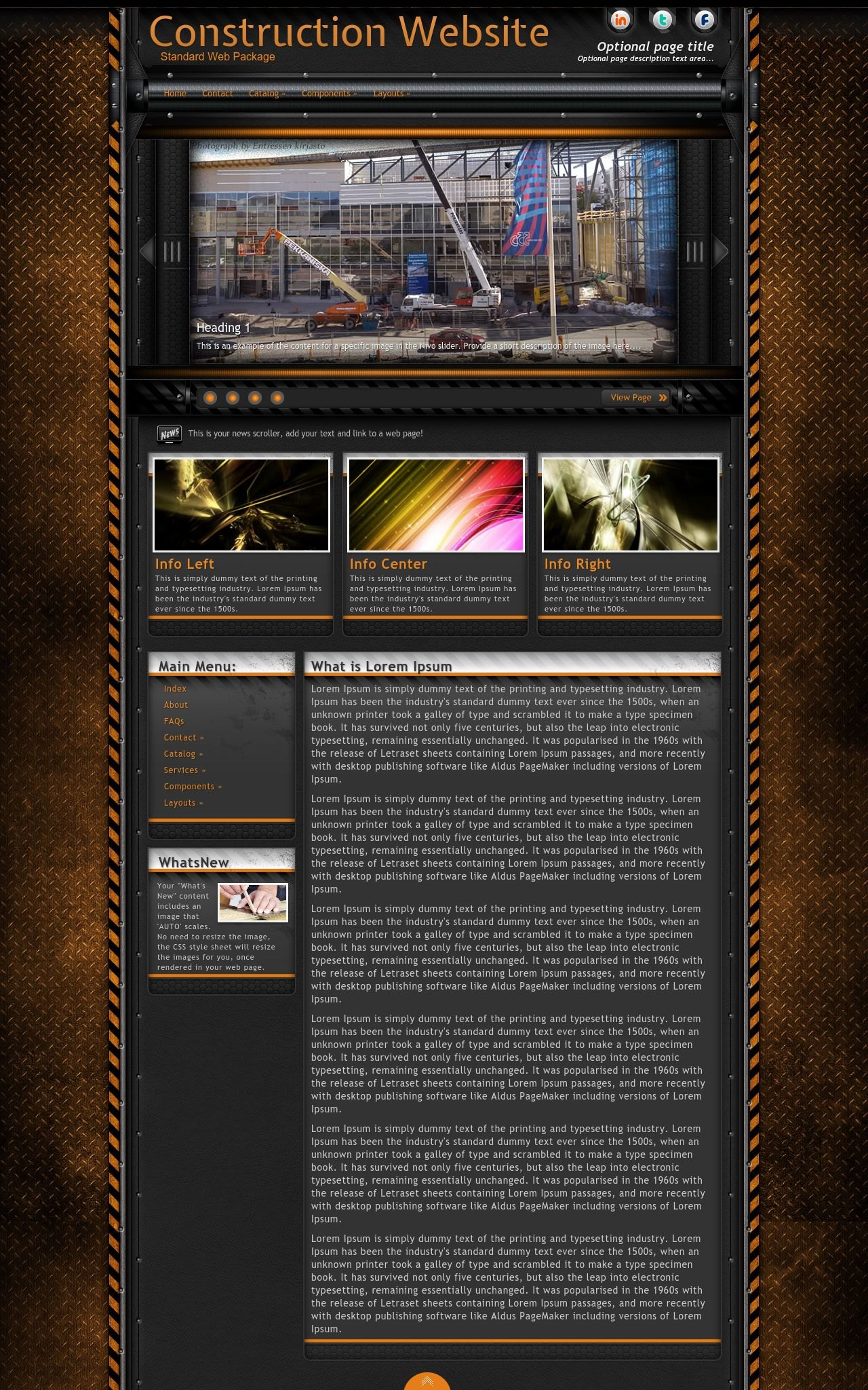 Tablet: Construction Web Template