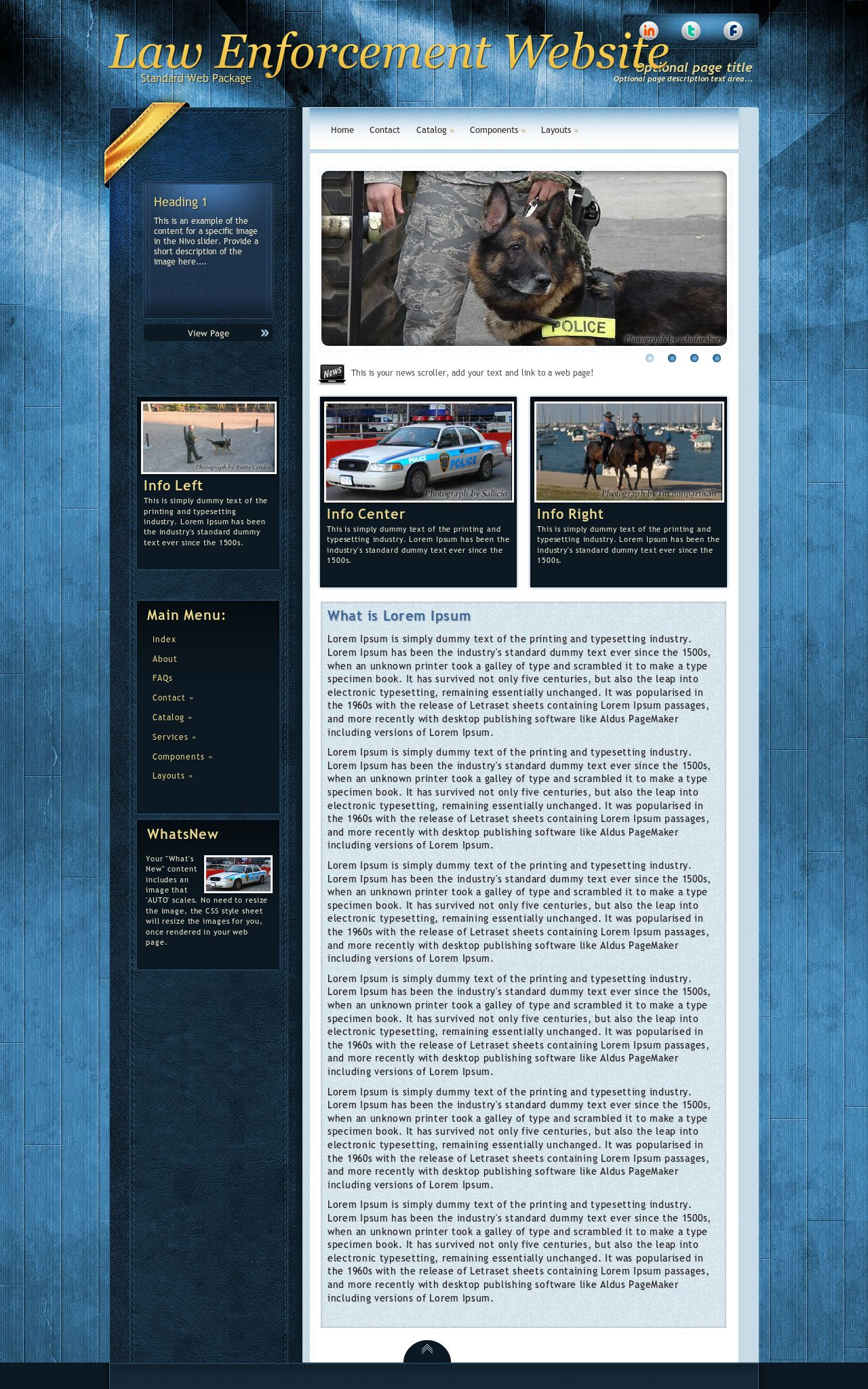 Law-enforcement Web Templates