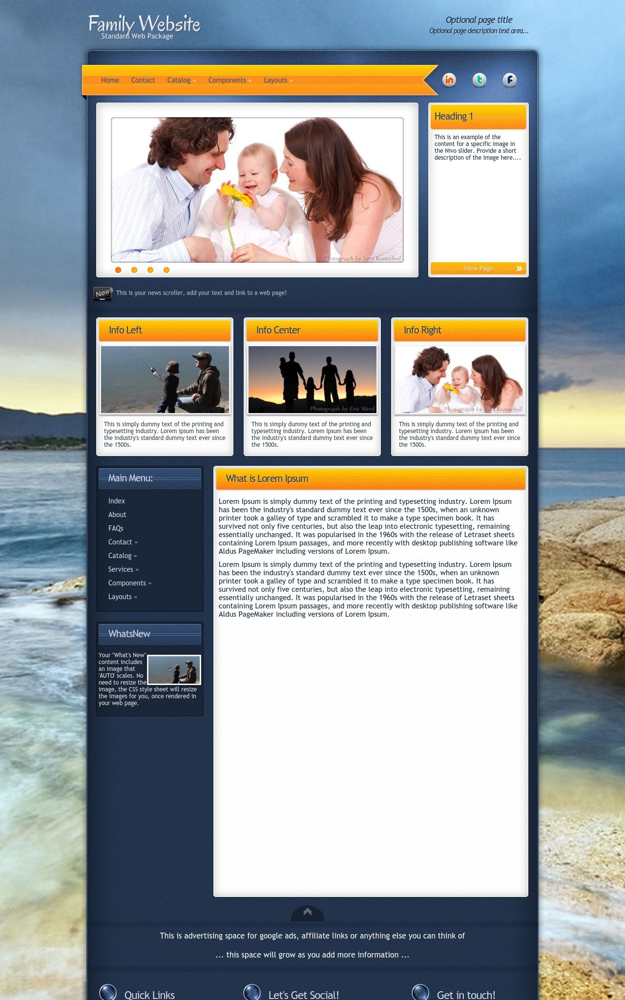 Family Web Templates