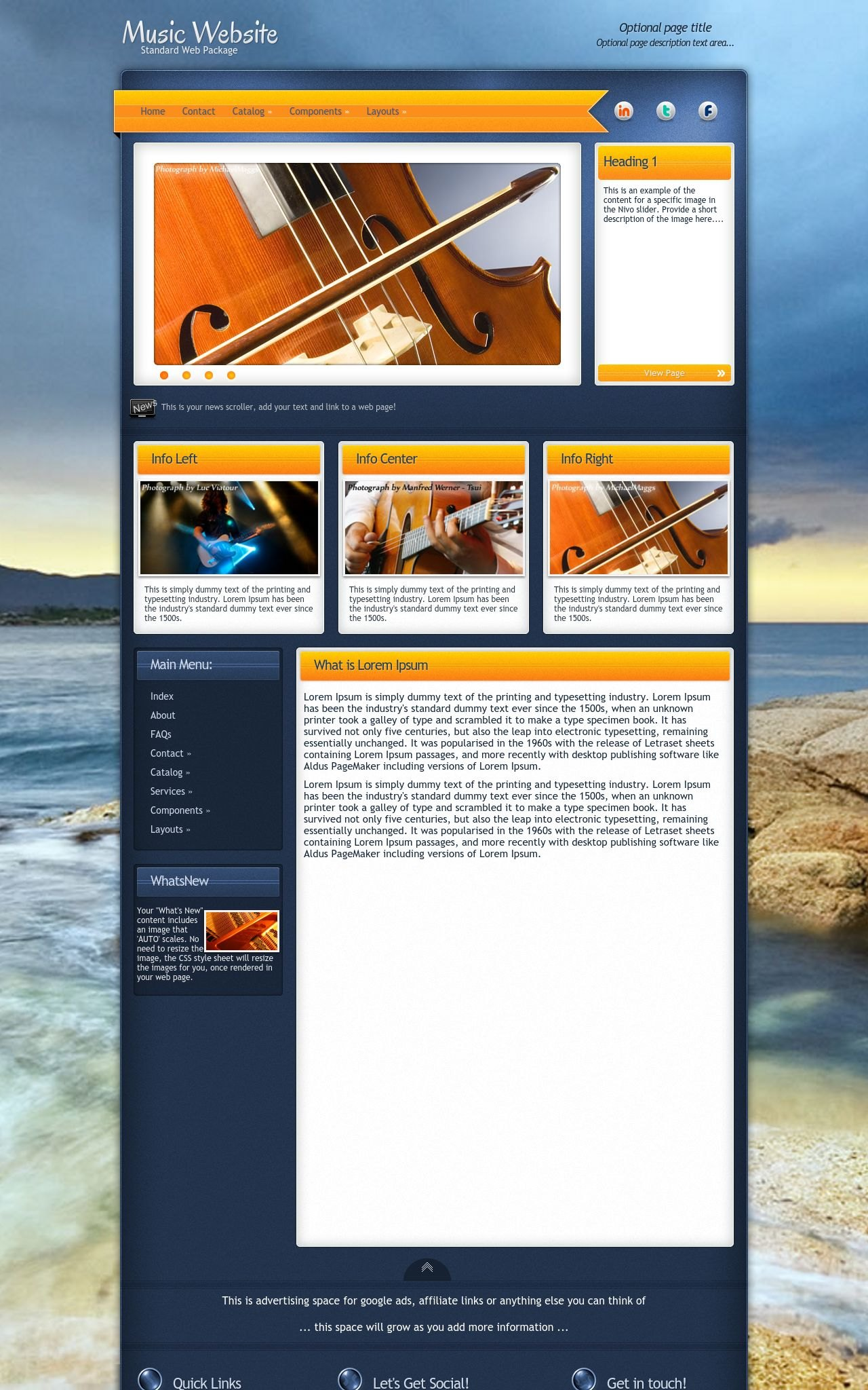 Music Web Templates