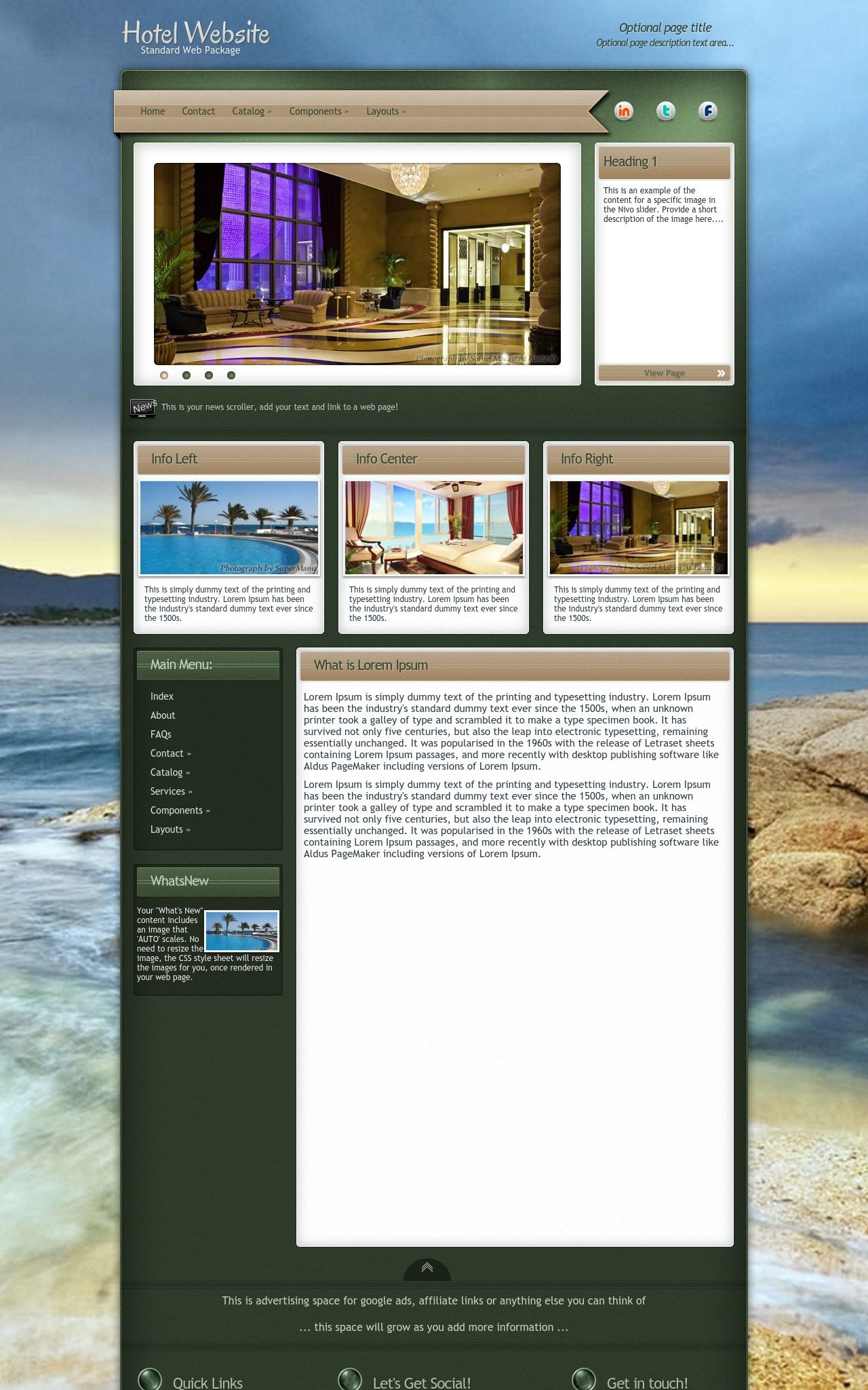 Desktop: Hotel Web Template
