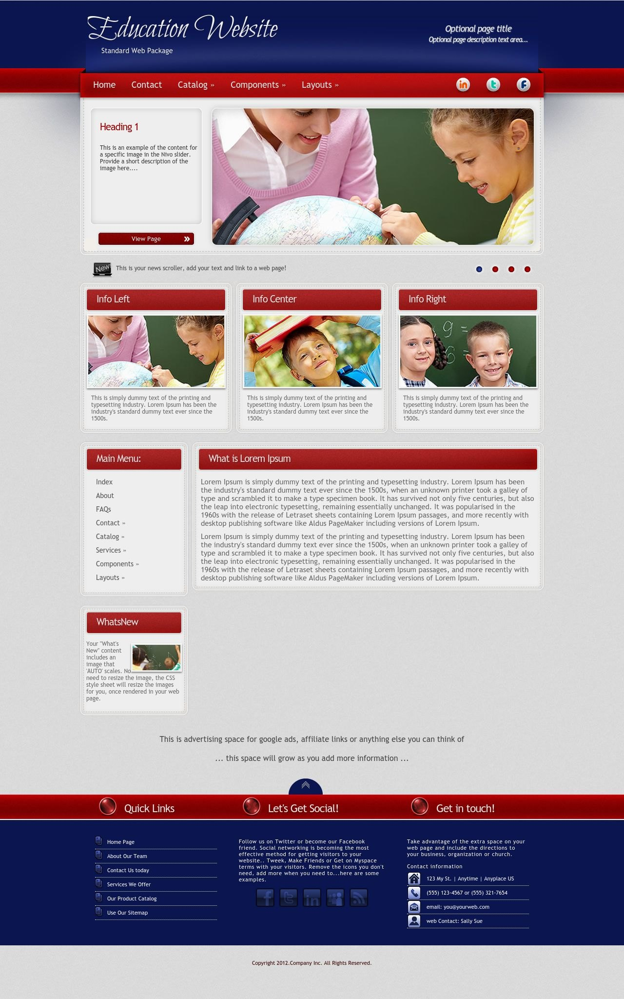 Desktop: Education Web Template