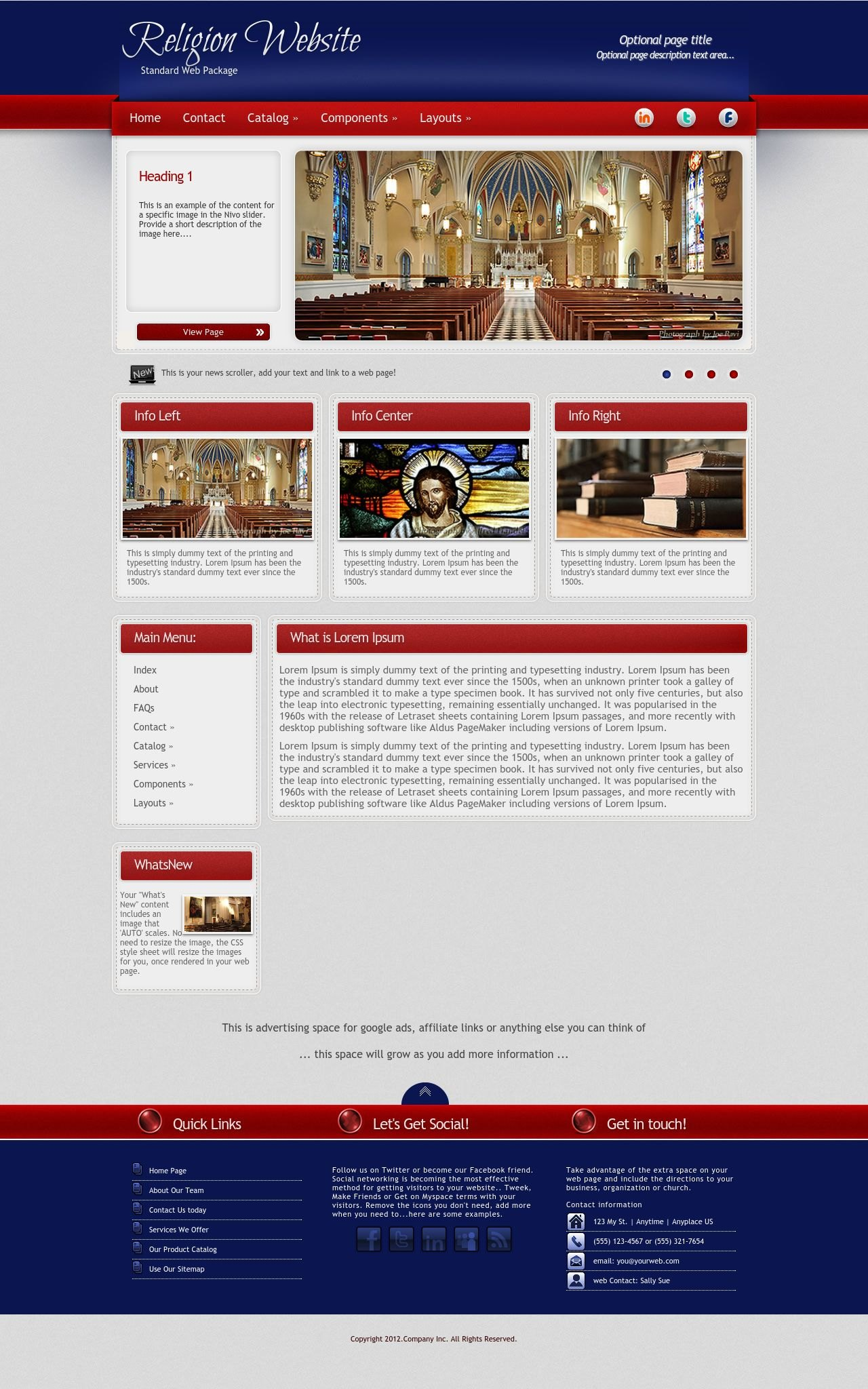 Tablet: Religion Web Template