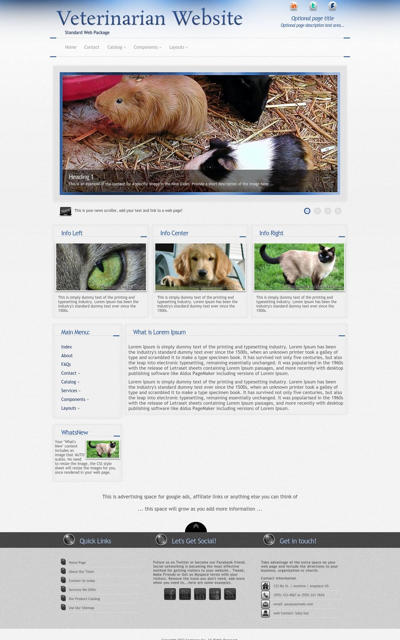 Desktop: Veterinarian Wordpress Theme