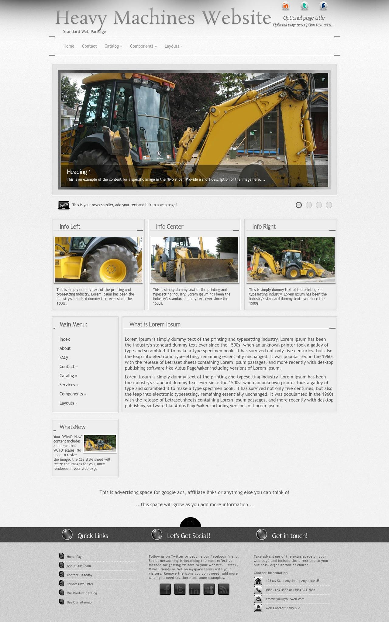 Heavy-machines Web Templates