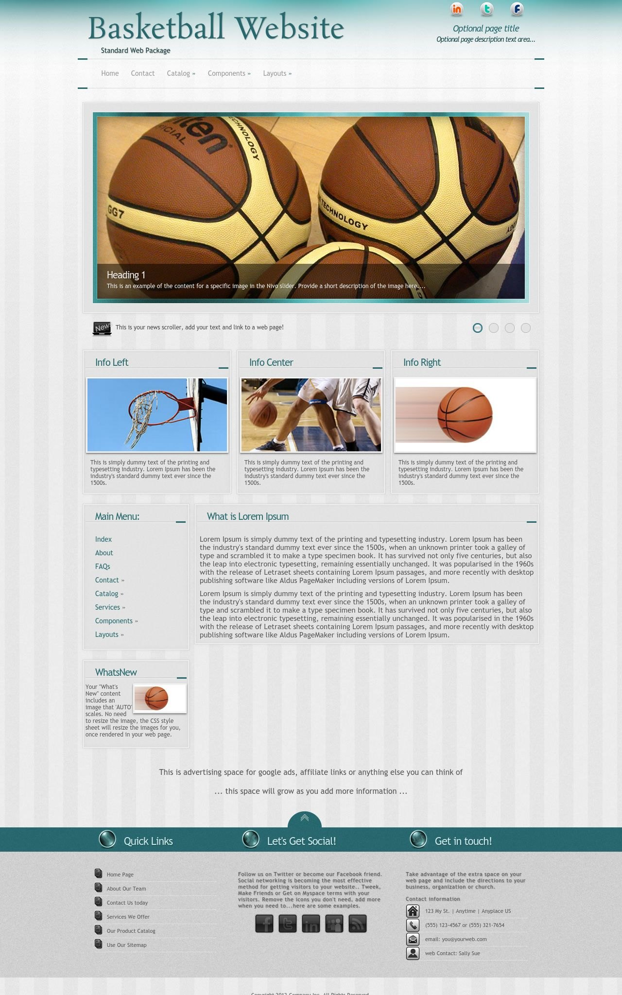 Basketball Web Templates