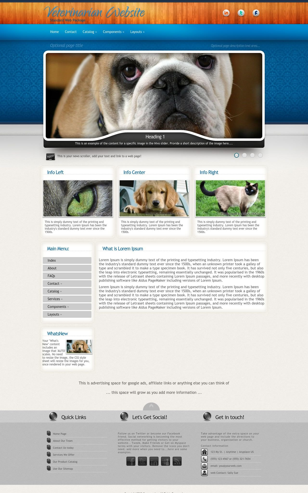 Veterinarian Web Templates