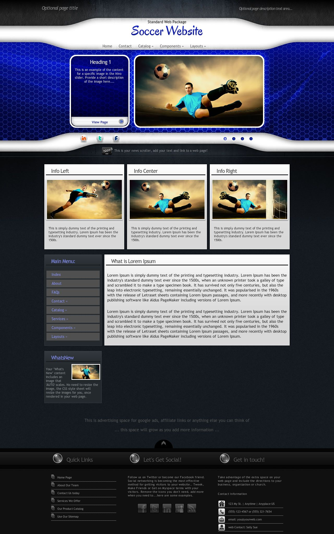 Desktop: Soccer Web Template