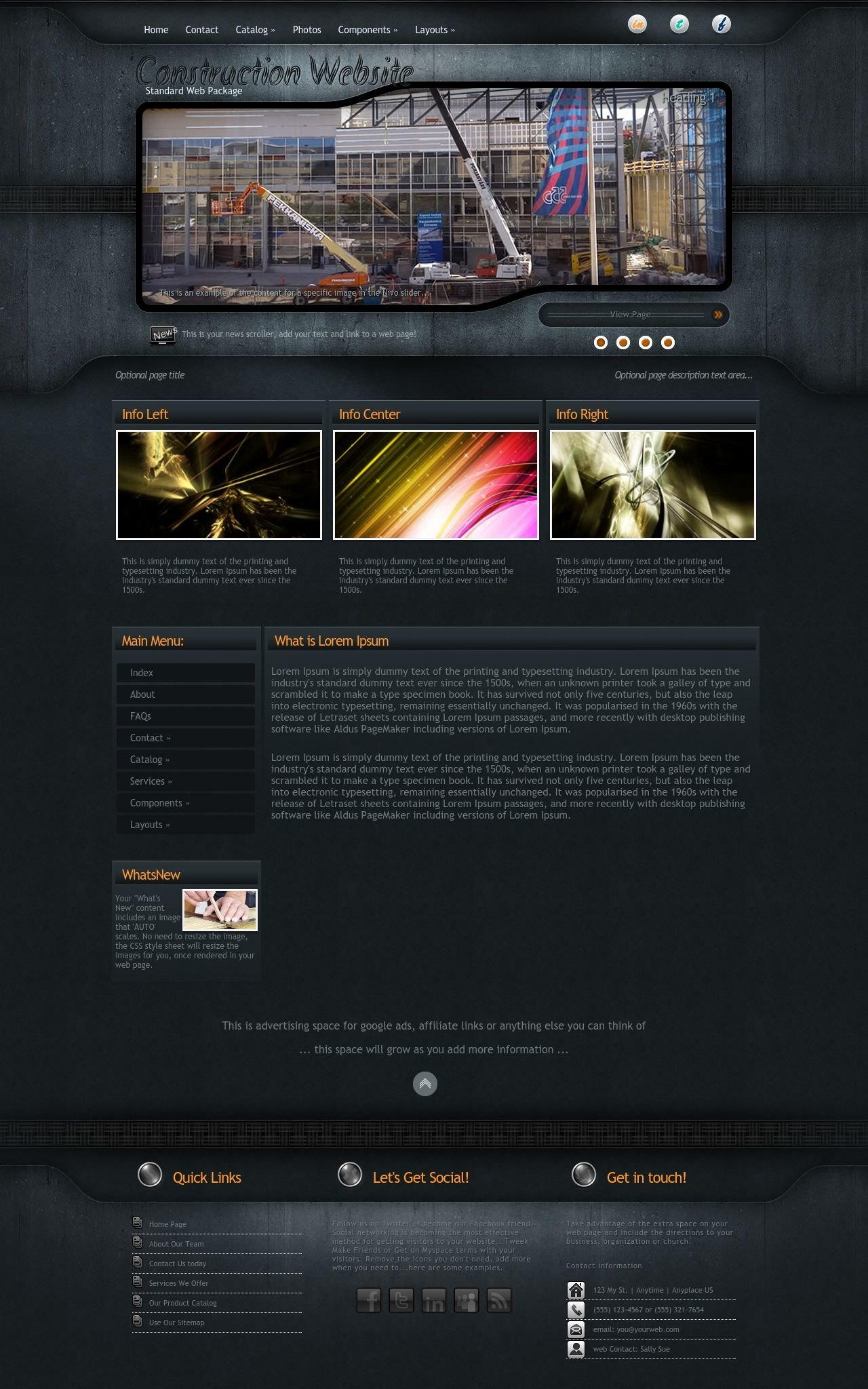 Precision Construction Black/Orange | Construction Web Template