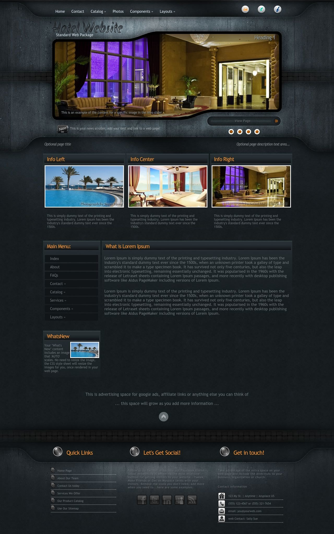Precision Hotel Black/Orange | Hotel Web Template