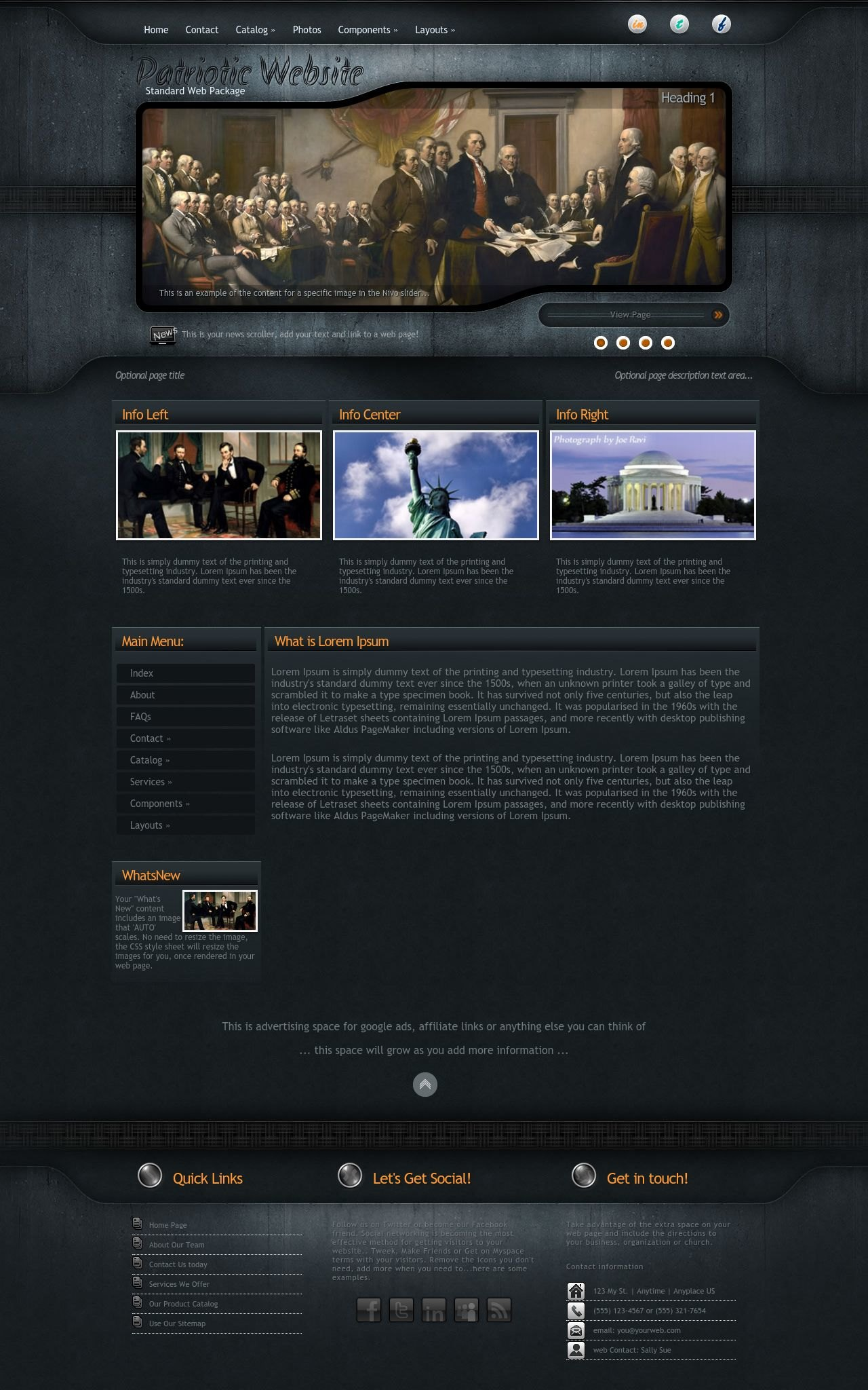 Tablet: Patriotic Wordpress Theme