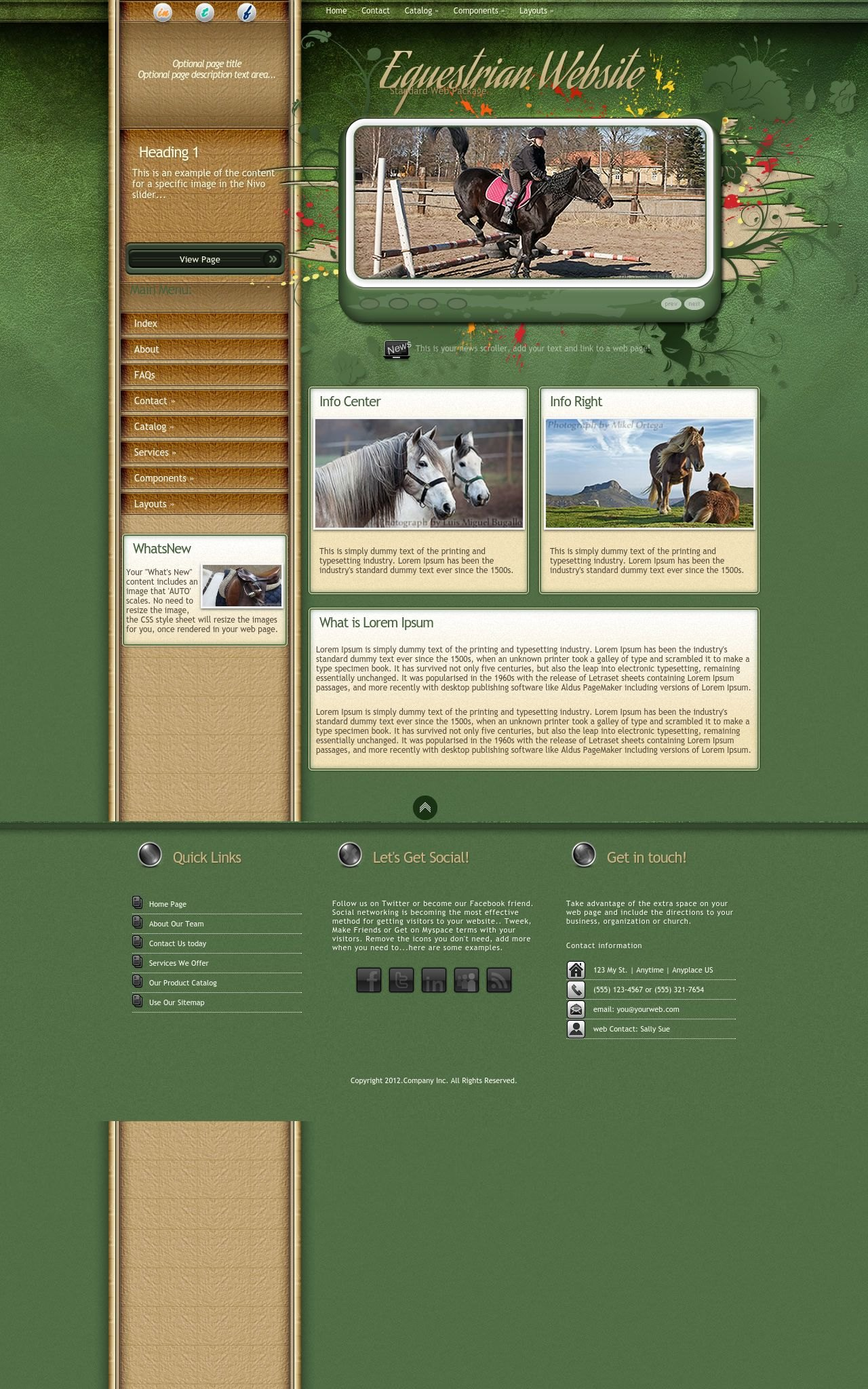 Desktop: Equestrian Wordpress Theme