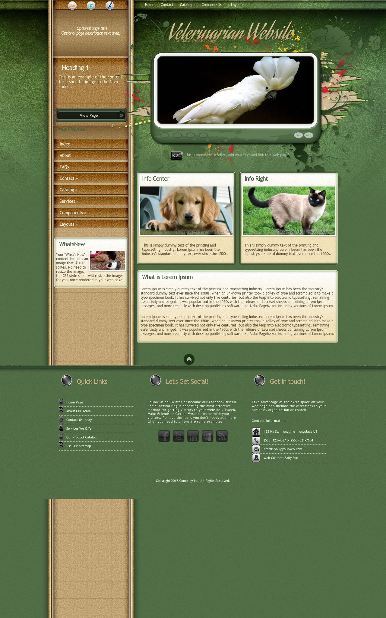 Tablet: Veterinarian Web Template