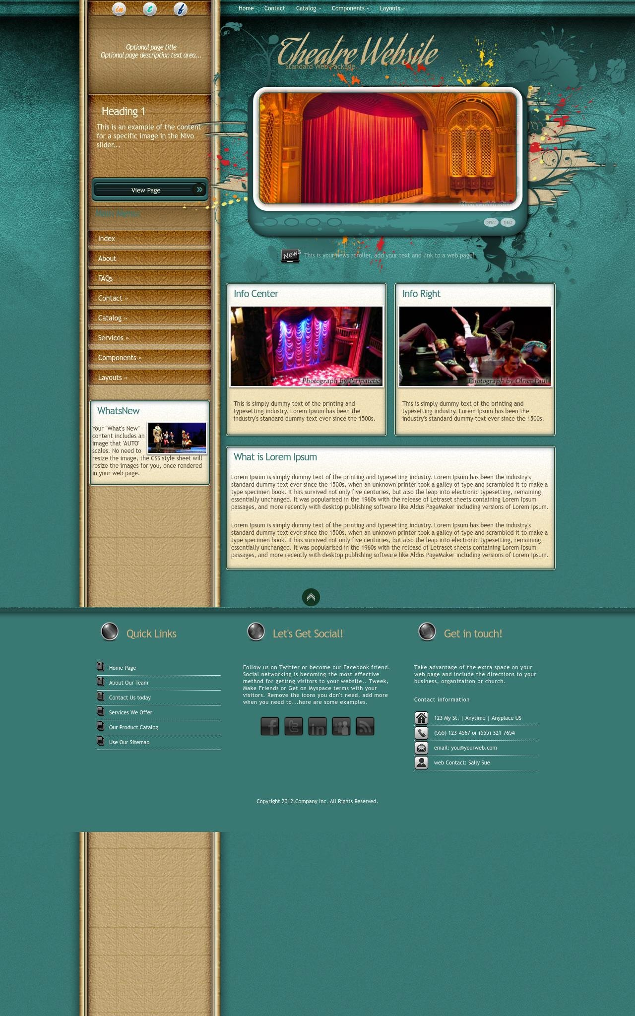 Desktop: Theatre Web Template