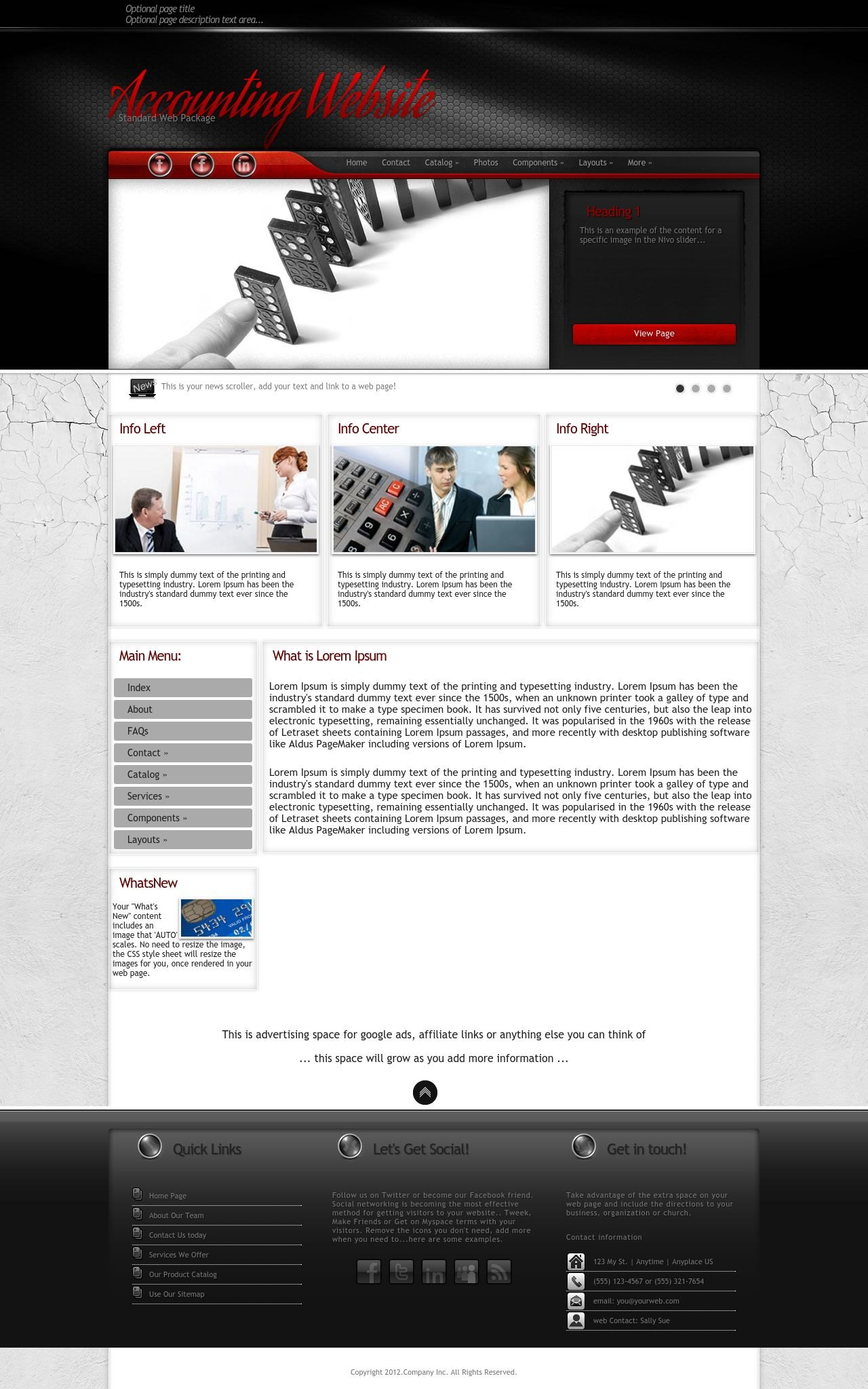 experience accounting red black accounting web template