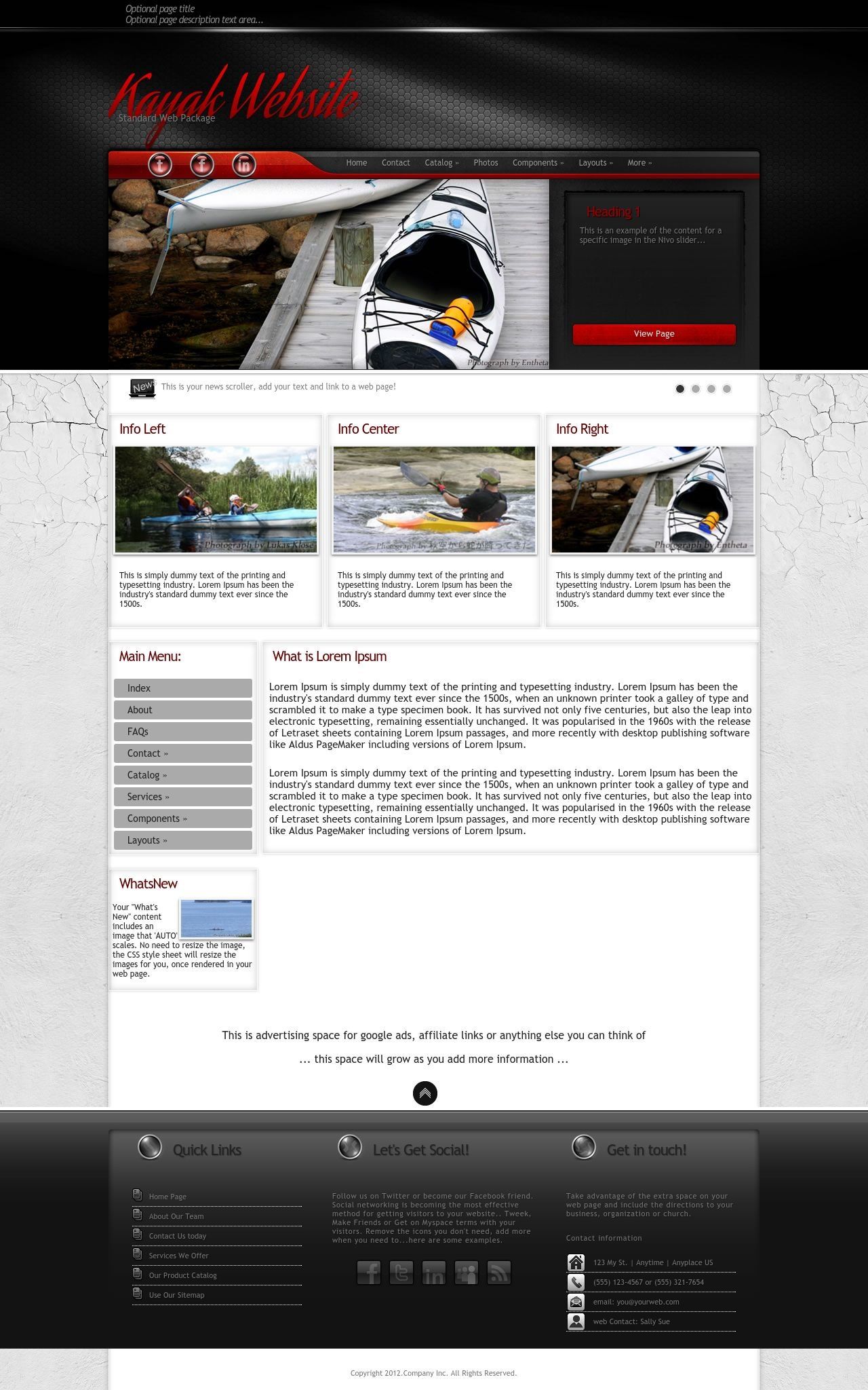 Kayak Web Templates