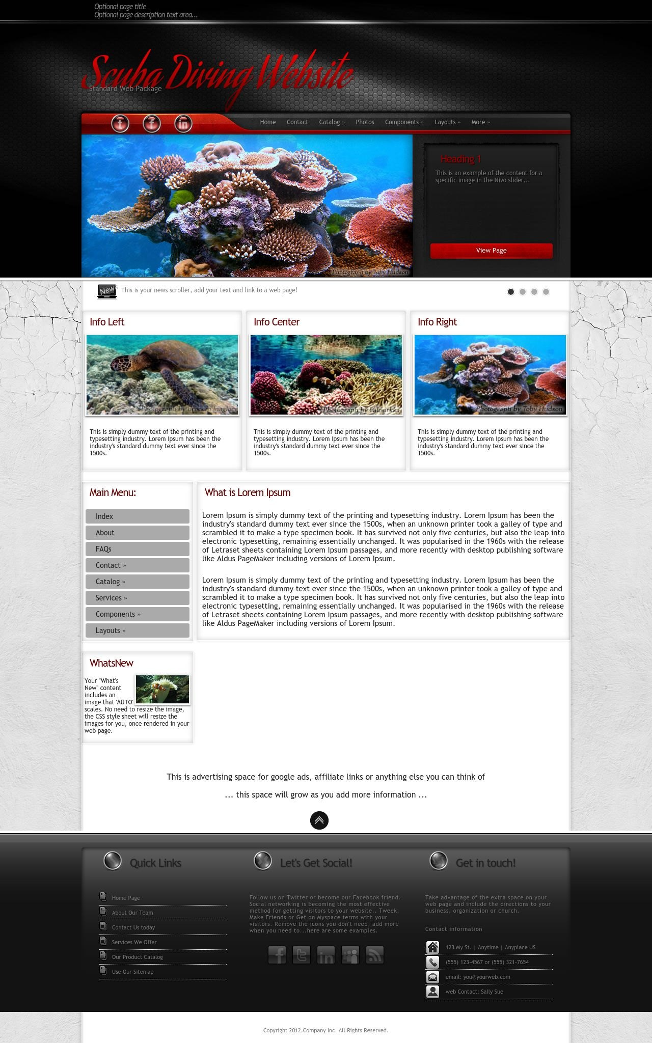 Experience Scuba Diving Red Black