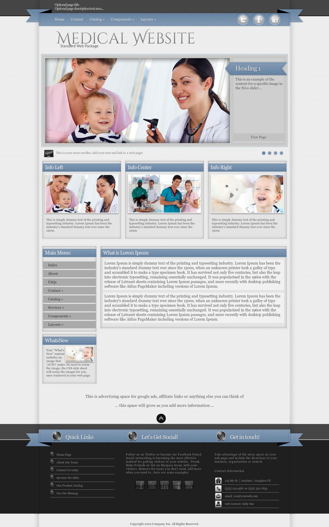Desktop: Medical Web Template