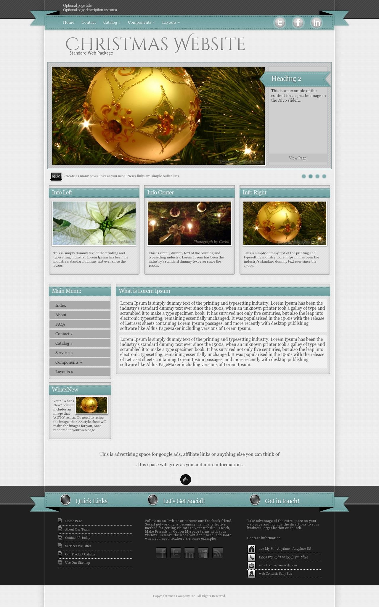 Tablet: Christmas Wordpress Theme