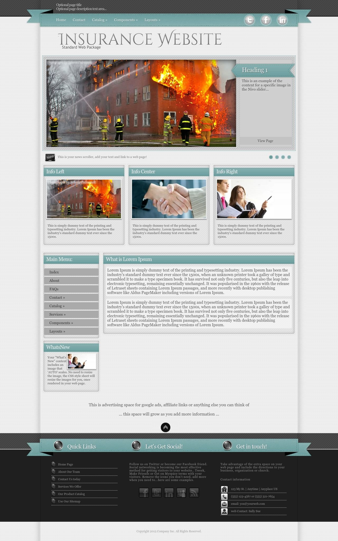 Strength Insurance Tealgrey Insurance Dreamweaver Template