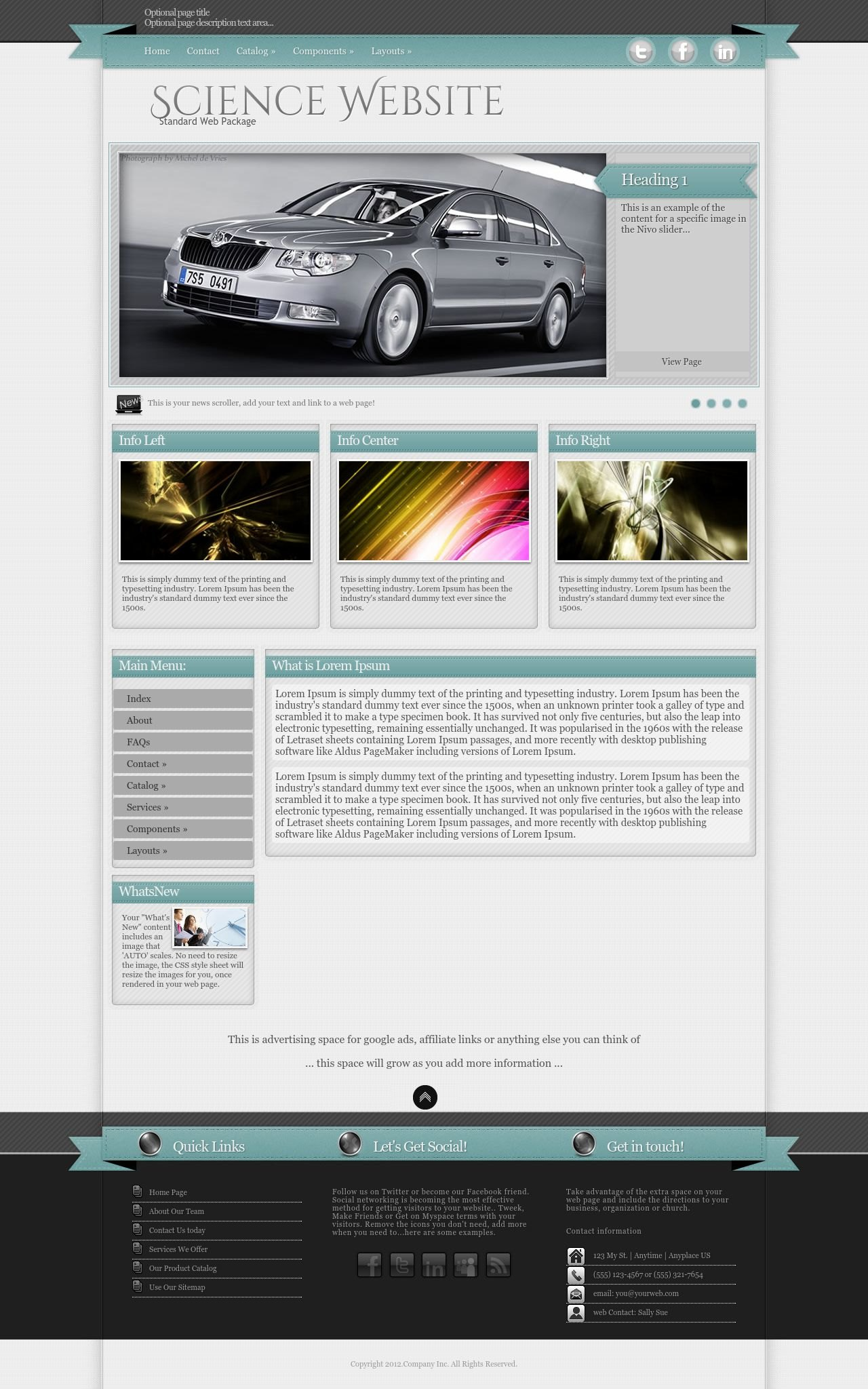 Science Web Templates