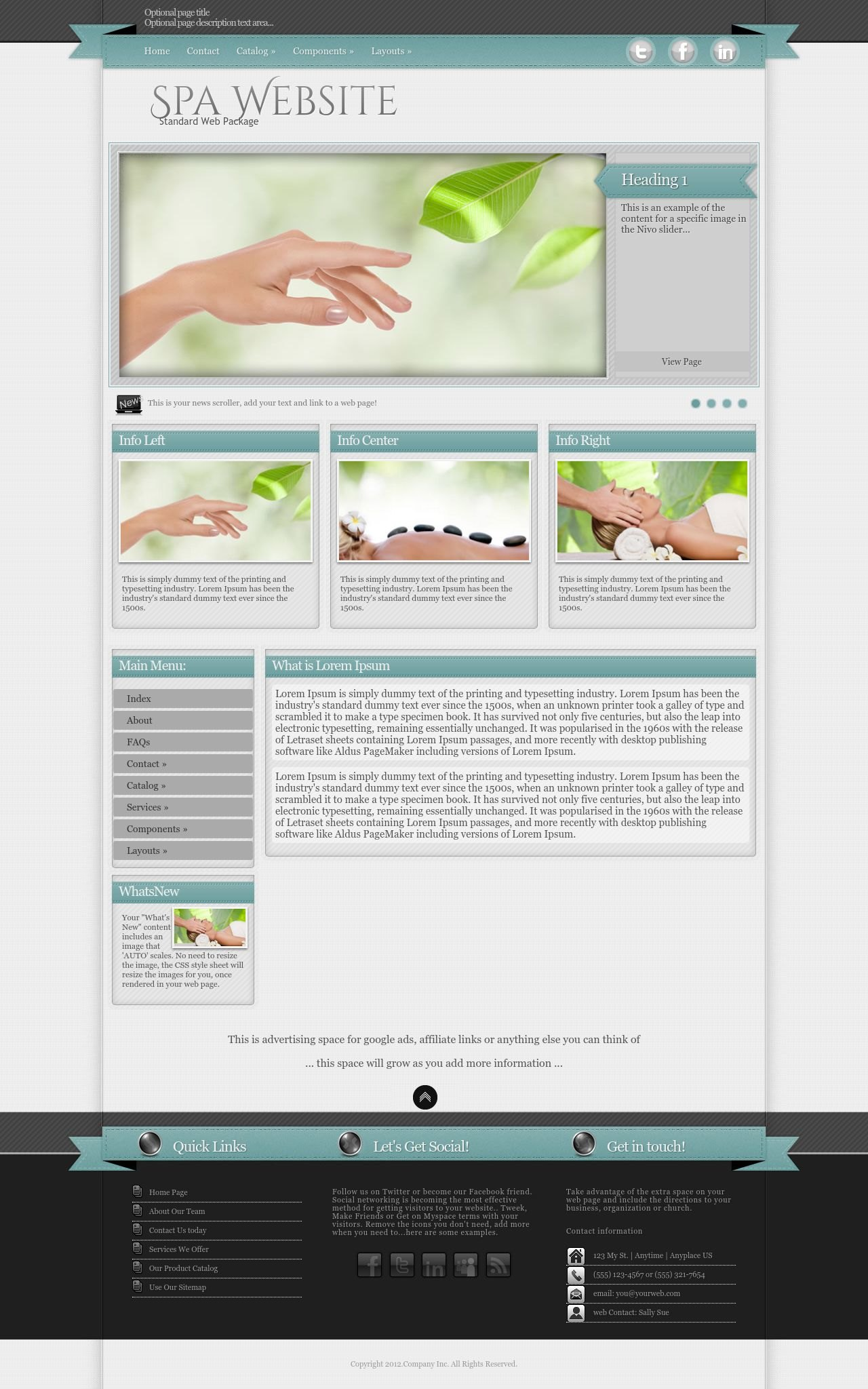 Tablet: Spa Wordpress Theme